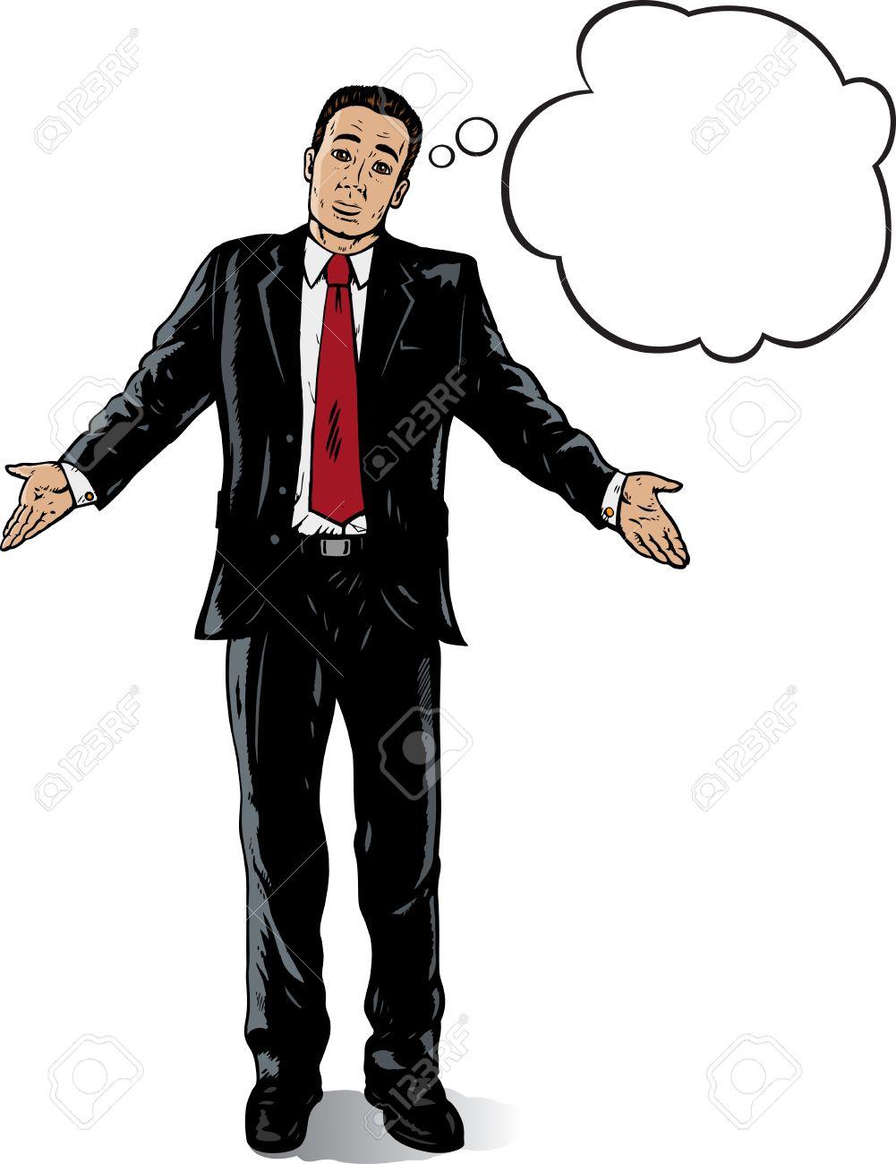 当惑のビジネスの男性のイラスト素材・ベクタ - Image 6944679.