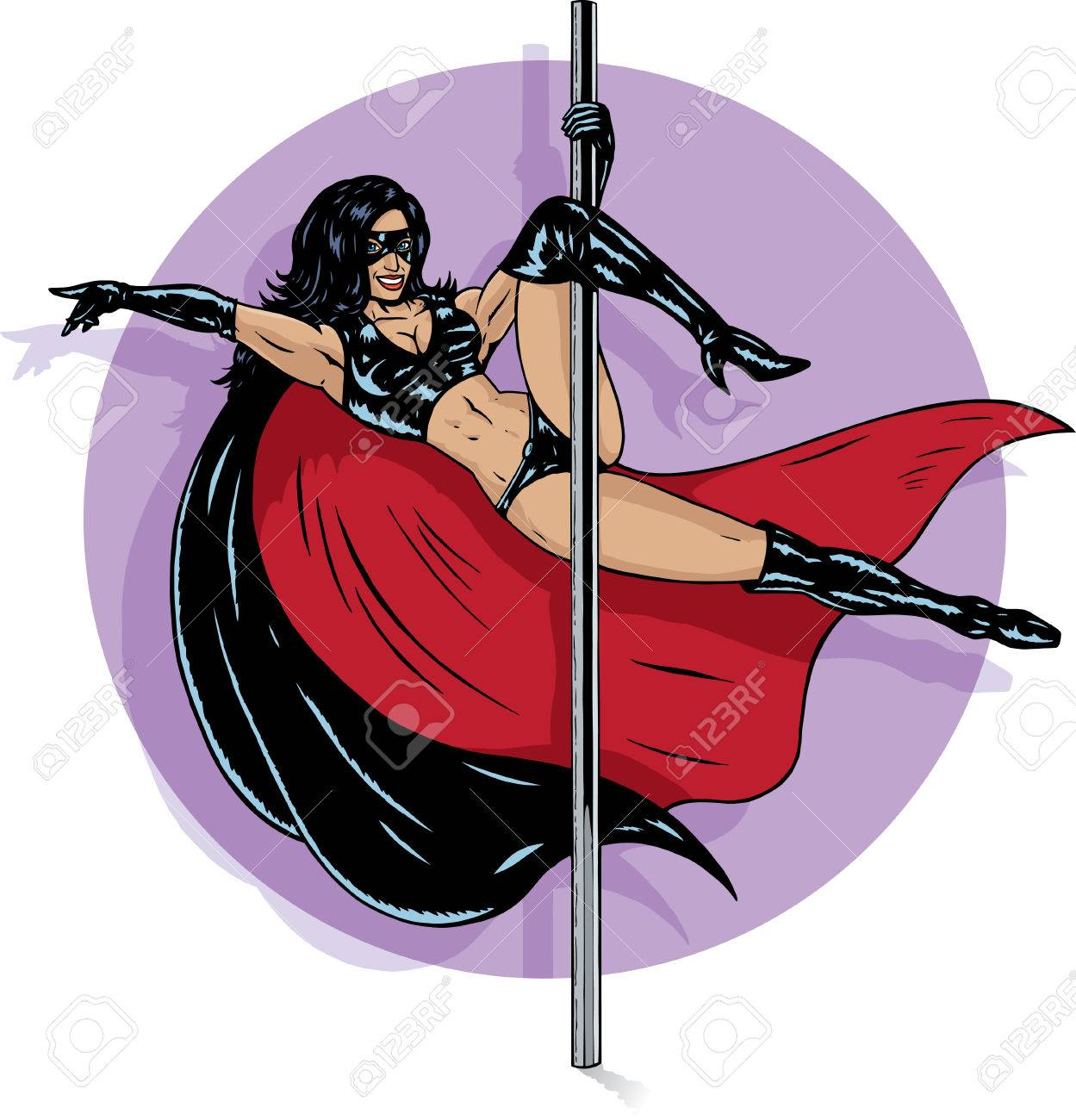 Superhero stripper Stock Vector - 6944681