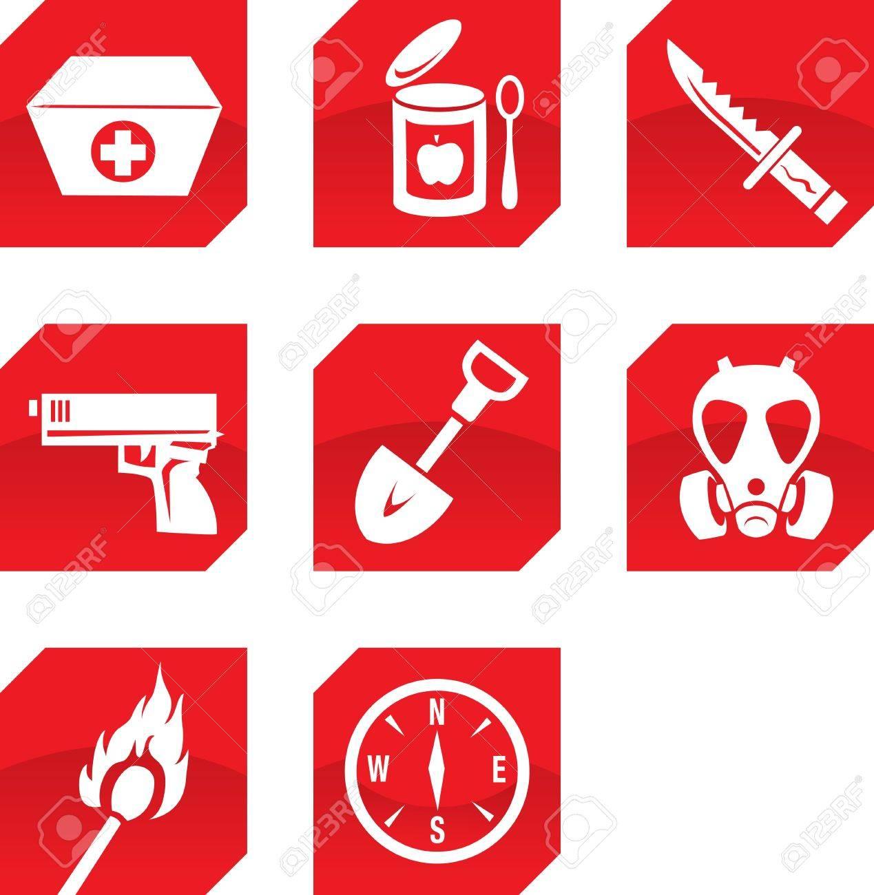 Survivalist icons Stock Vector - 13763549