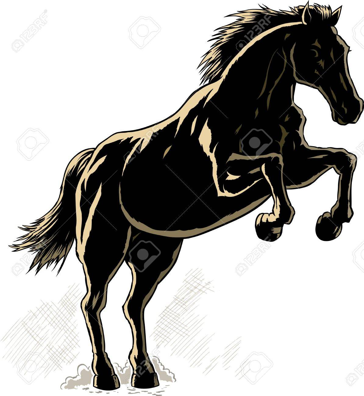 Outline of a horse. Stock Vector - 14125022