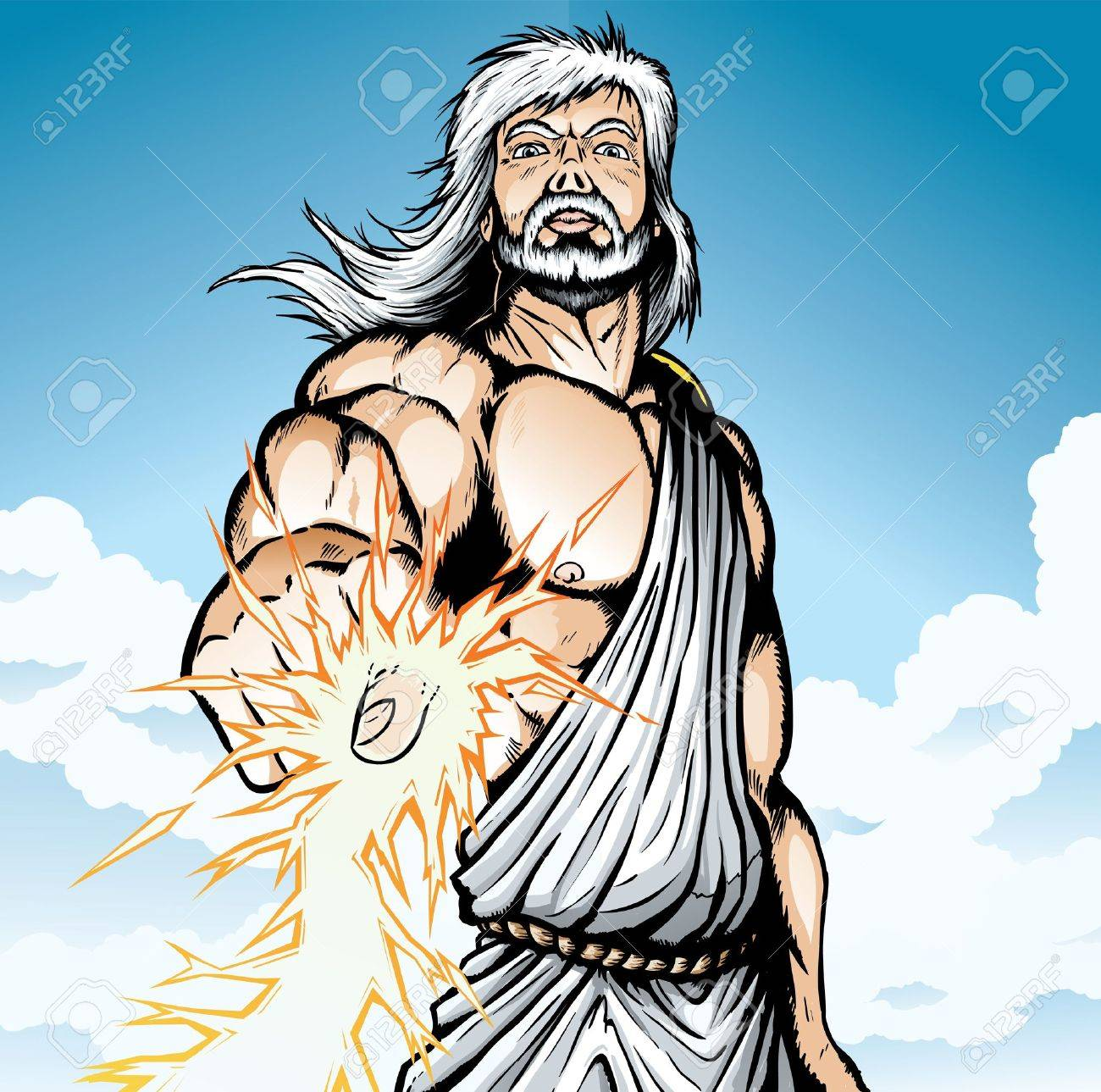 angry zeus royalty free cliparts vectors and stock illustration