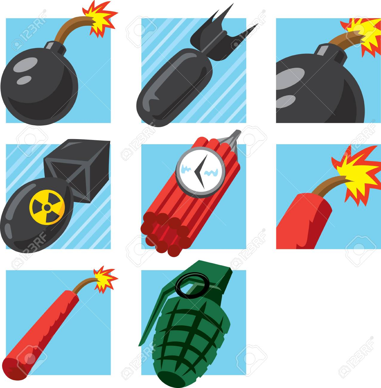 Bomb Icons Stock Vector - 16822625
