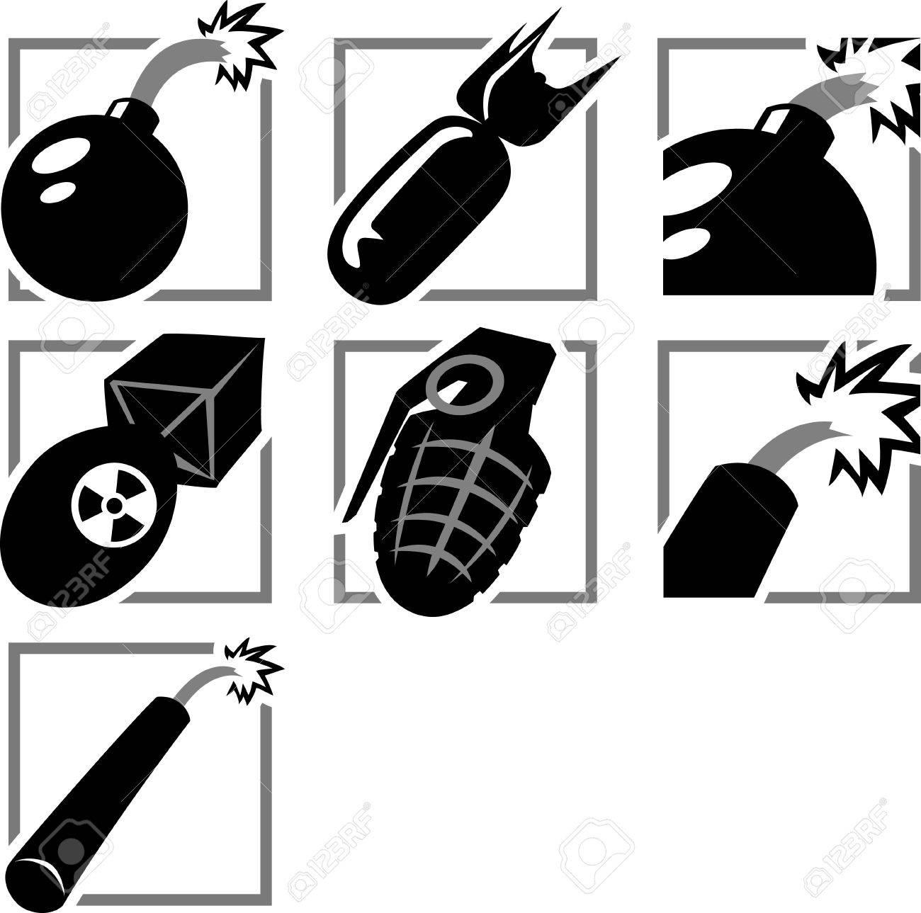 Bomb Icon Vector Bomb Icons