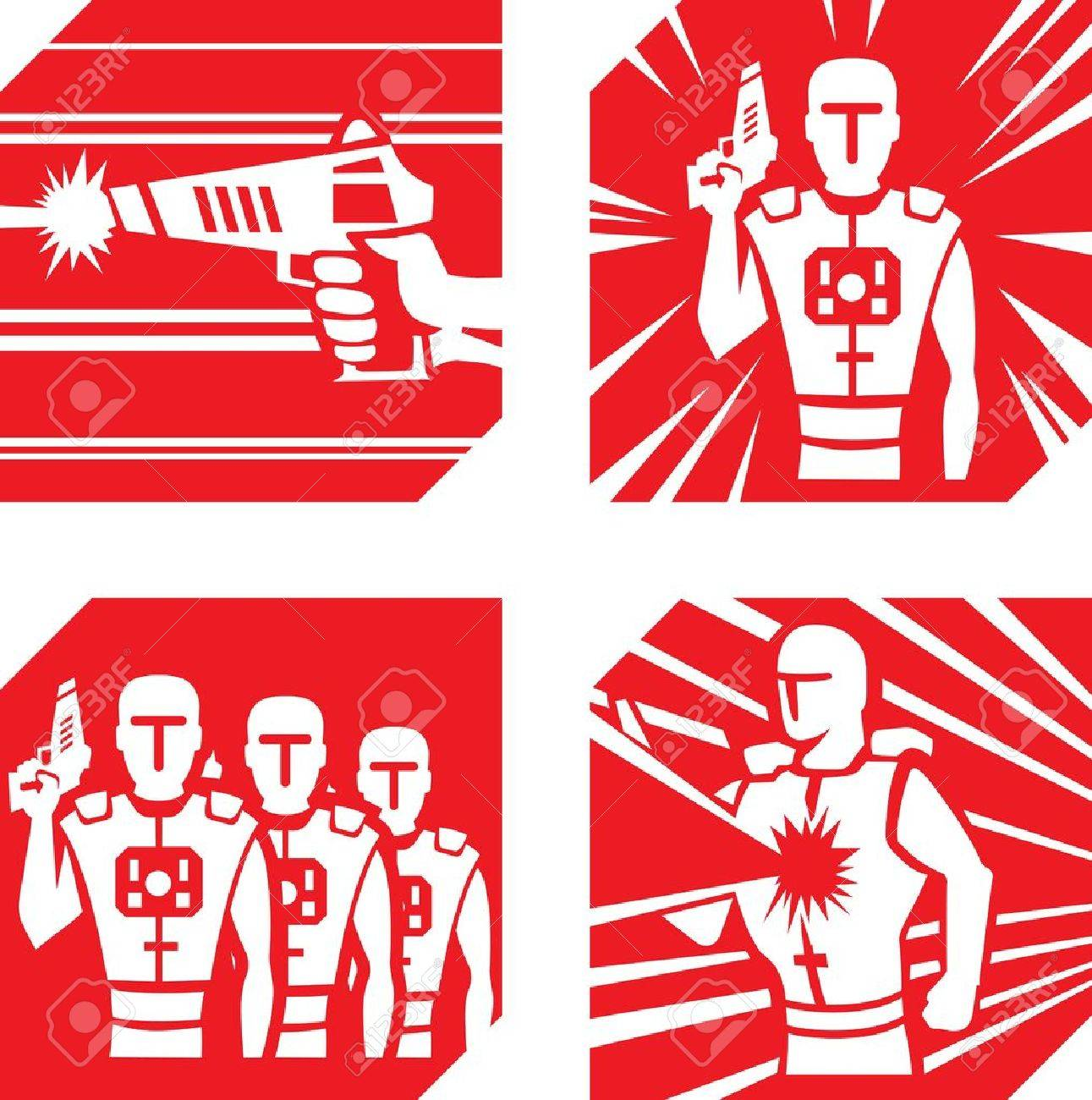 Laser Tag Icons - 17287274