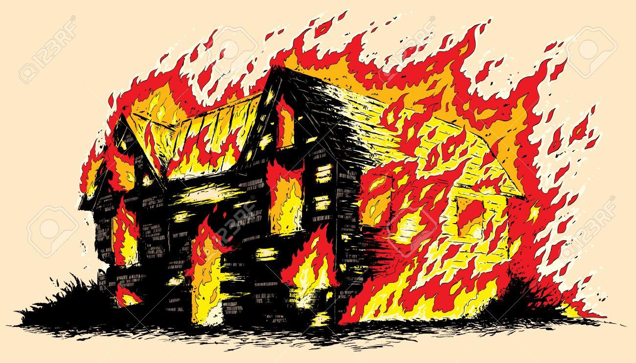 Burning house - 19832696