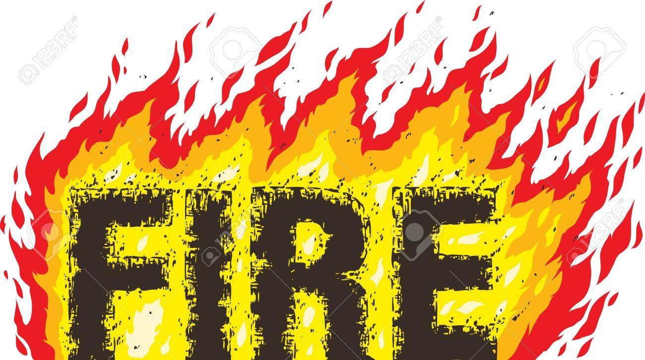 Fire word Stock Vector - 19832698
