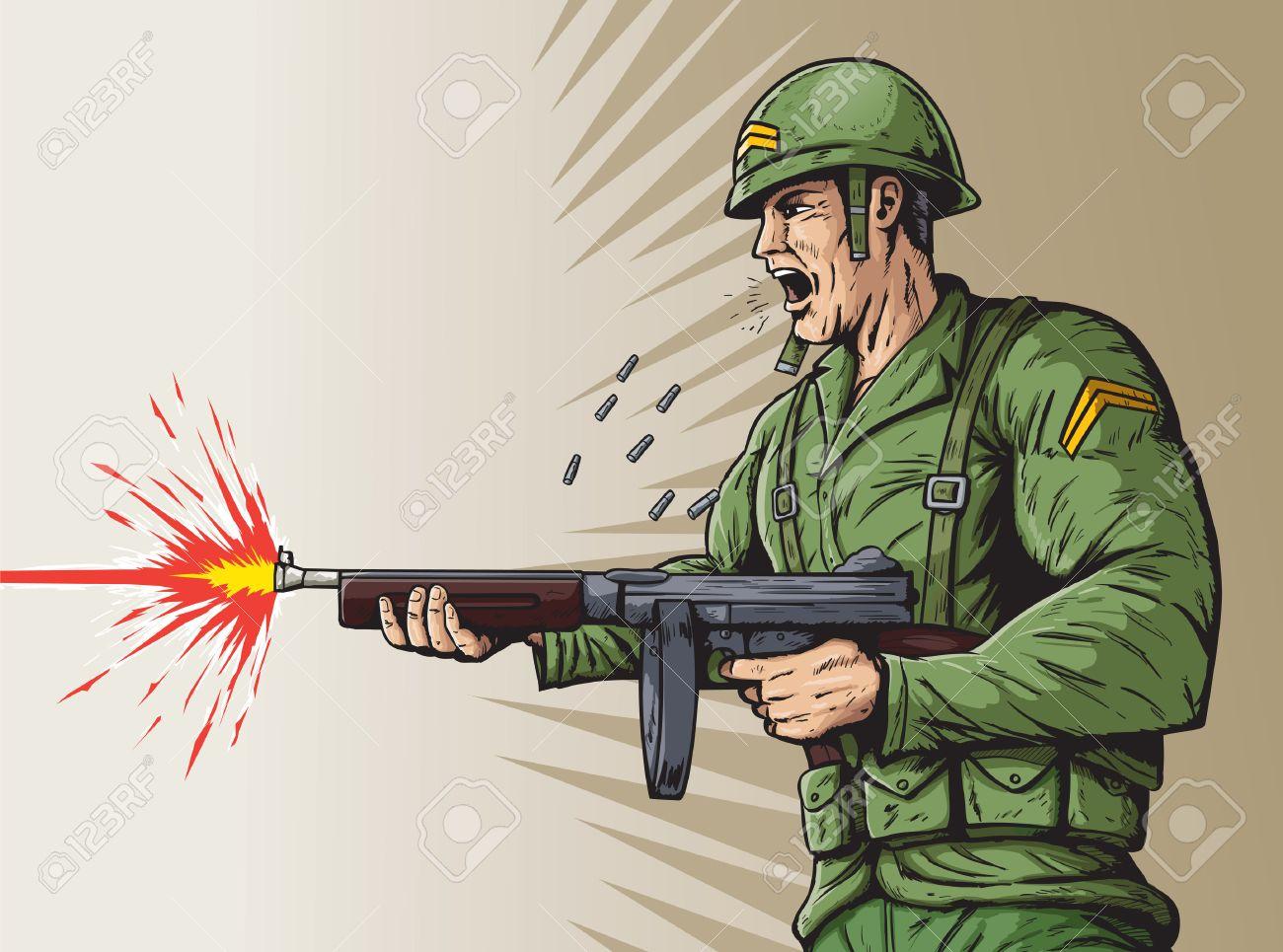 World War 2 soldier Stock Vector - 24561036