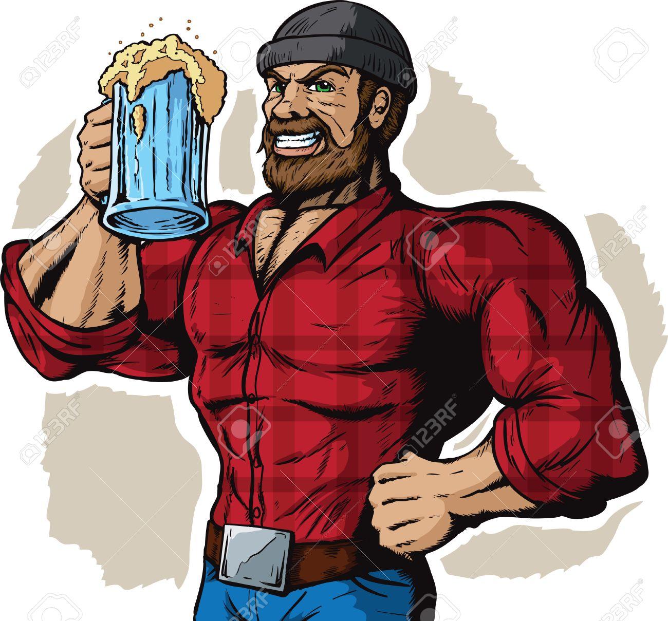 drinking lumberjack royalty free cliparts vectors and stock