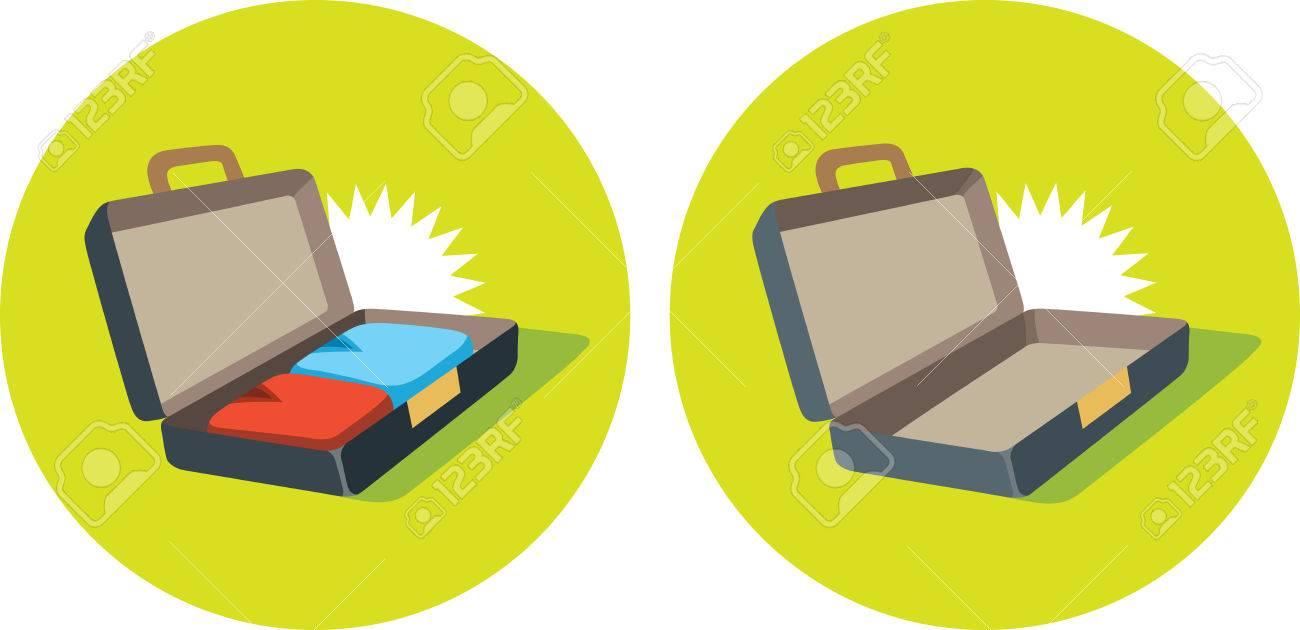 Open Briefcase Icon Open Suitcase Icon