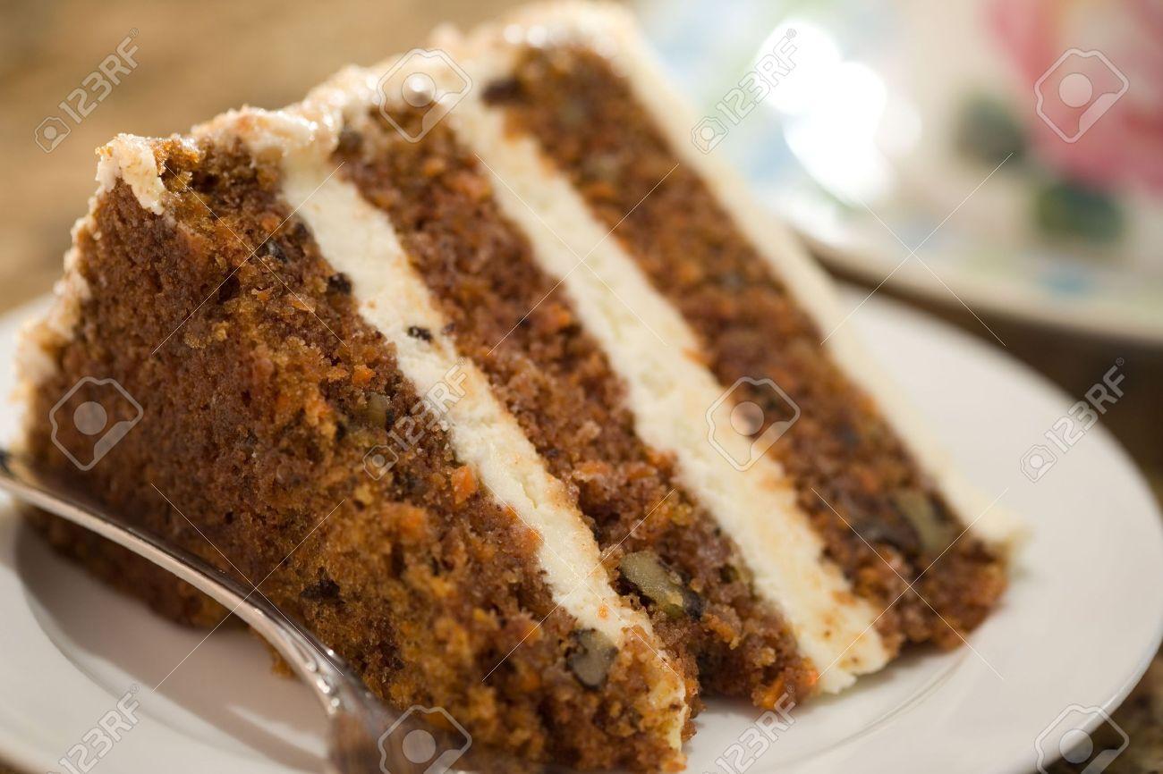 Decadent slice of carrot cake. Stock Photo - 8078921