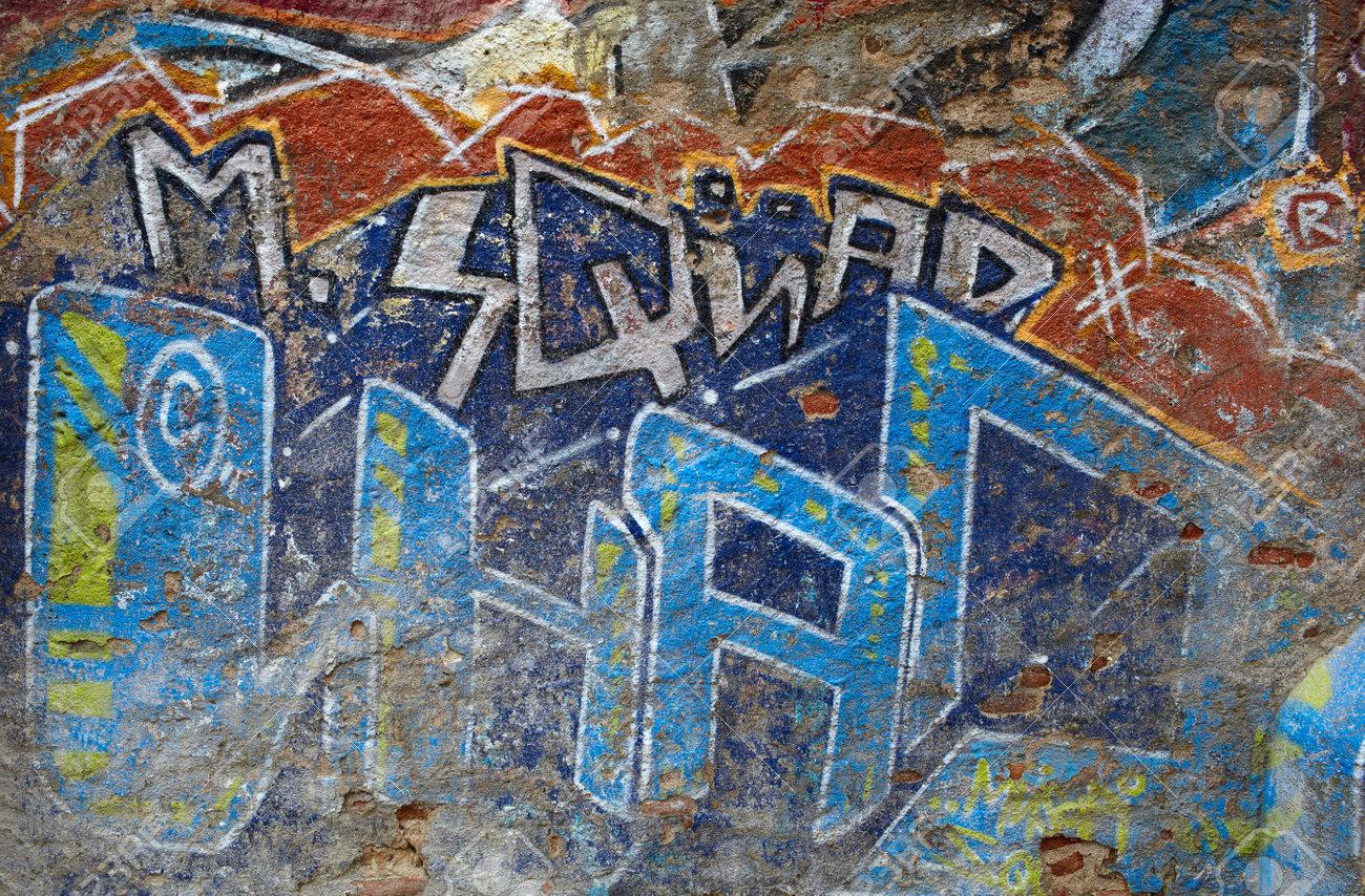 Graffiti wall barcelona - Graffiti Wall Modern Street Art Barcelona Spain Stock Photo 15370425