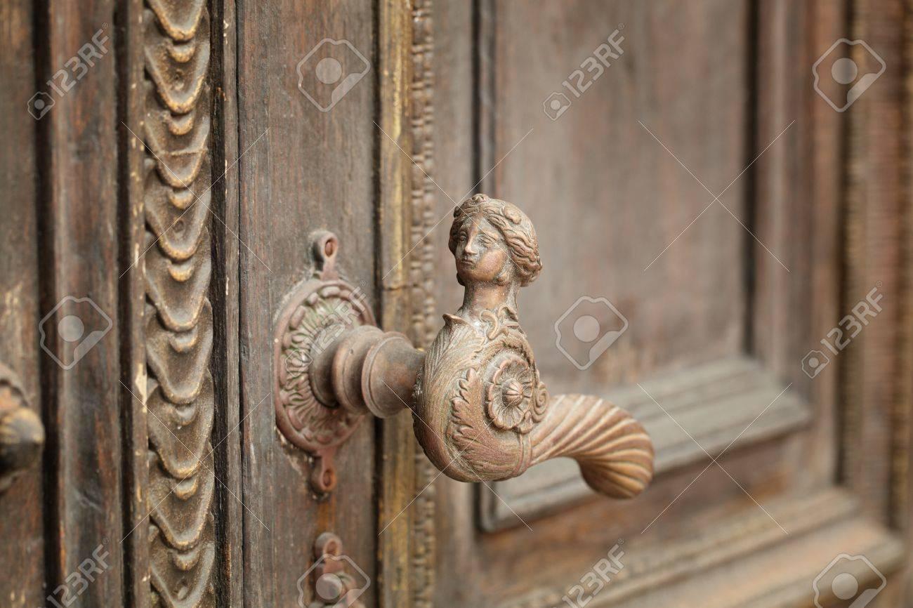 vintage aged door handle in tallinn, estonia Stock Photo - 17205438