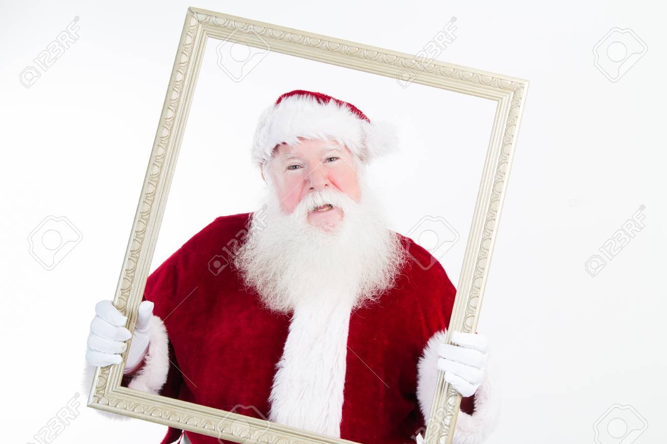 Santa claus framed in a picture frame that he is holding stock santa claus framed in a picture frame that he is holding stock photo 65931731 jeuxipadfo Choice Image