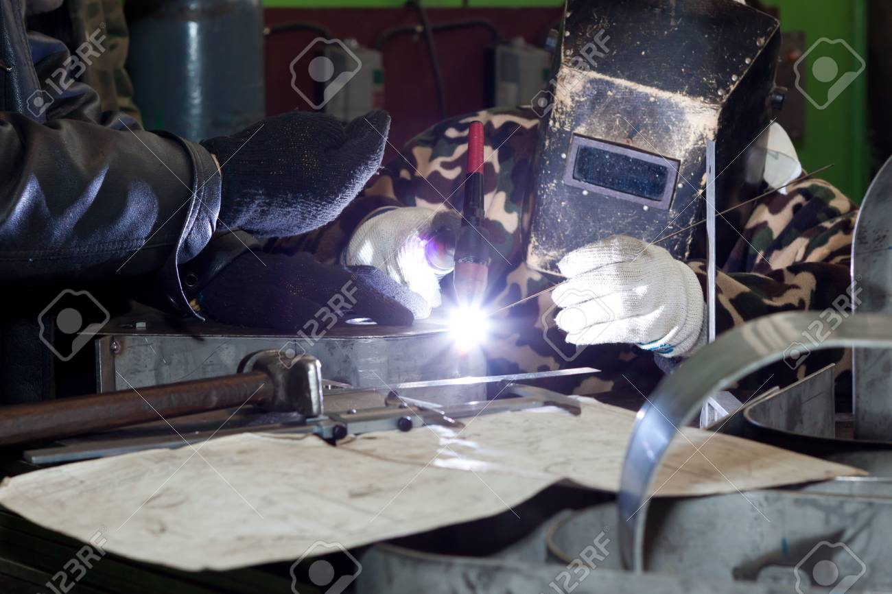 Welding Operator With Co Worker Stock Photo Picture And Royalty Free Image Image 12843379