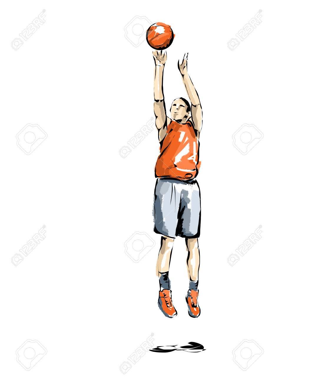 バスケット ボール イラスト バスケの練習の男 の写真素材 画像素材 Image
