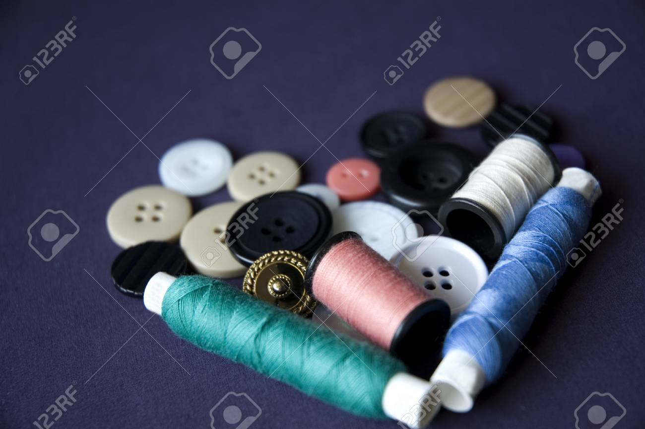 sewing kit in heart shape. Stock Photo - 8806428