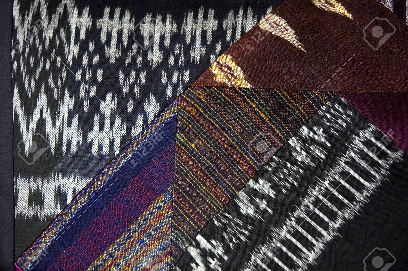 various kinds of native textile on thai silk Stock Photo - 10770827