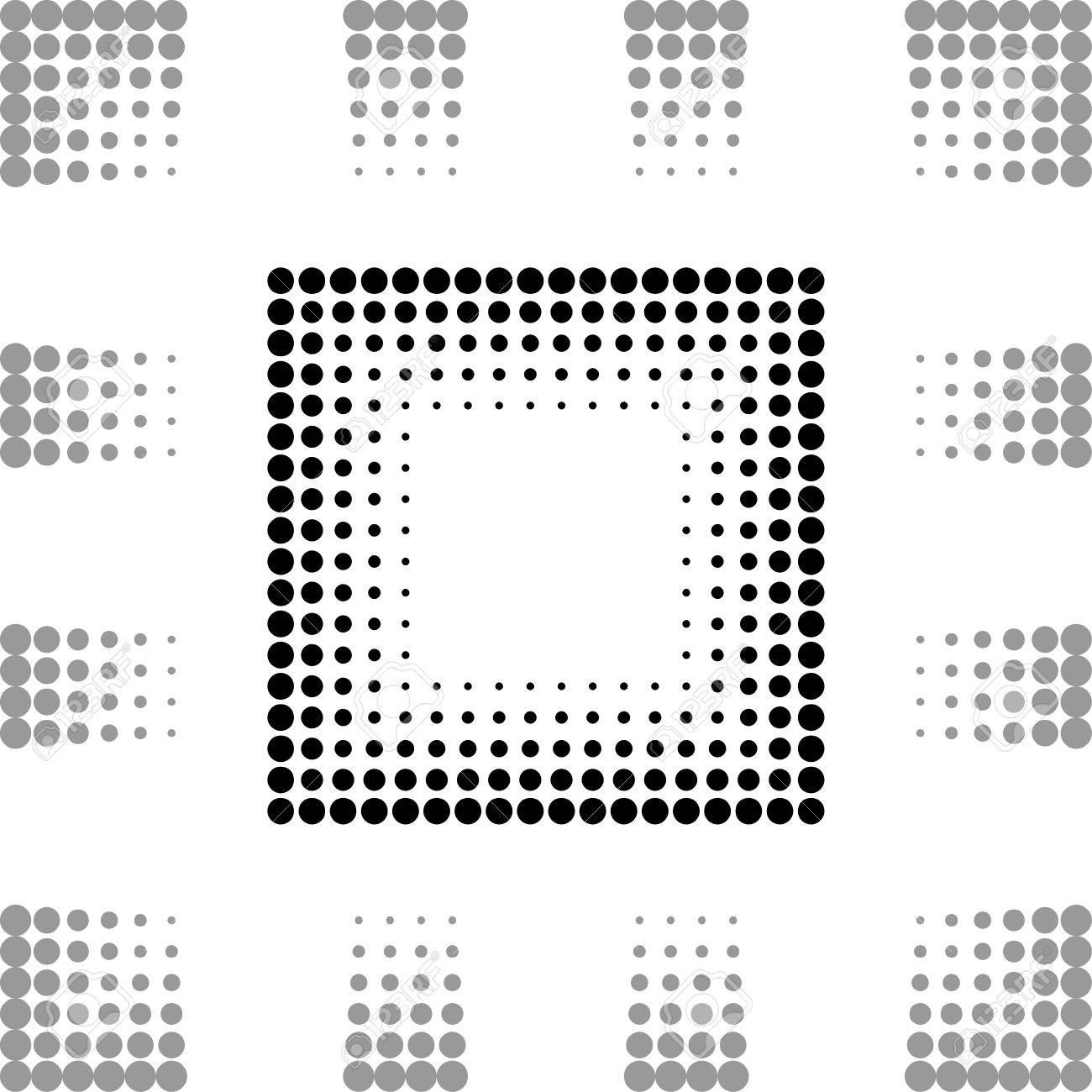 Square frame with dots Stock Vector - 14809427