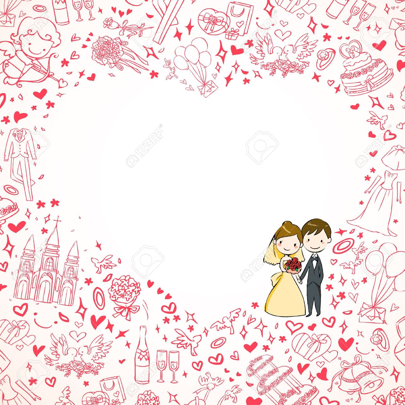 Wedding Invitation Royalty Free Cliparts, Vectors, And Stock ...