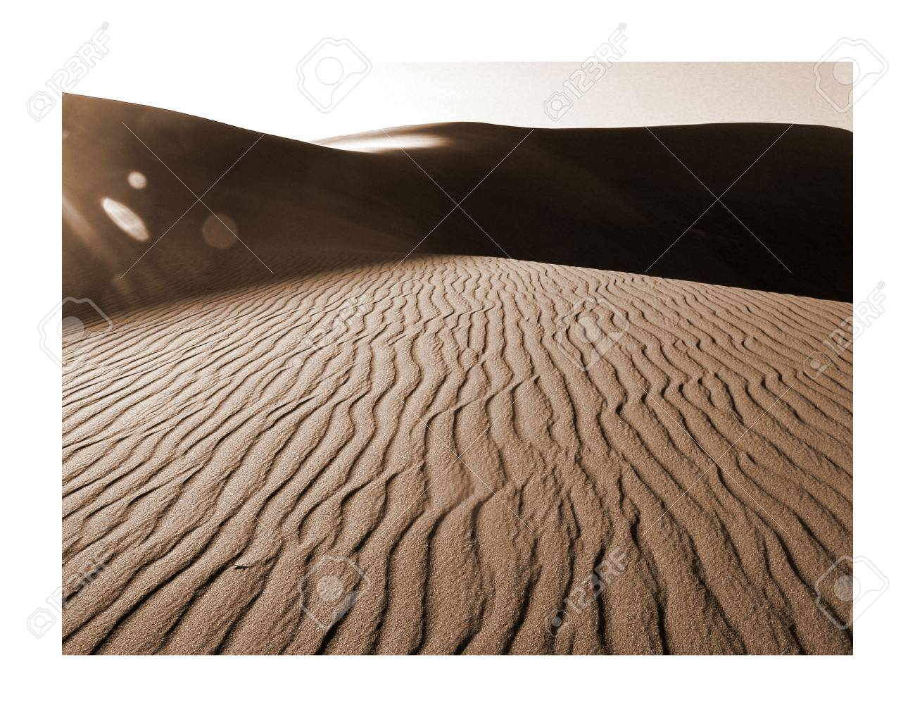 Shadows at dusk in the great sand dunes natinal park in Colorado Stock Photo - 370341