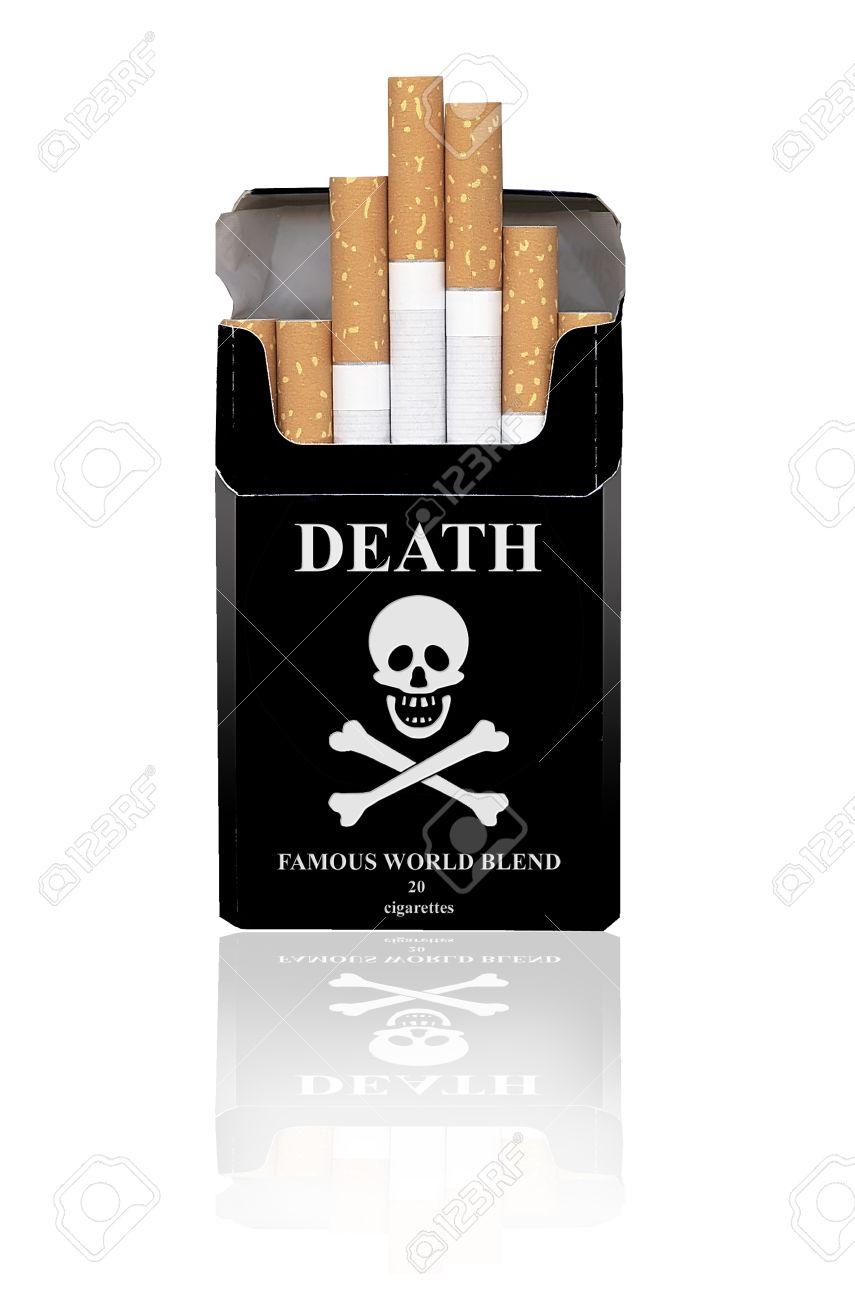 Resultado de imagen de paquete de tabaco negro muerte