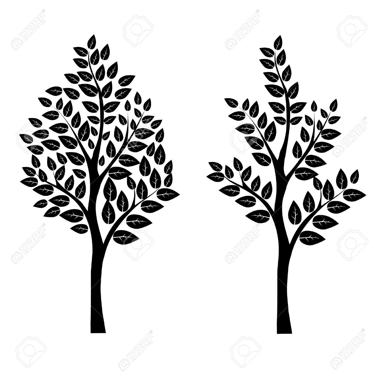 black tree vector art eps 10 royalty free cliparts vectors and rh 123rf com tree vector free tree vector free