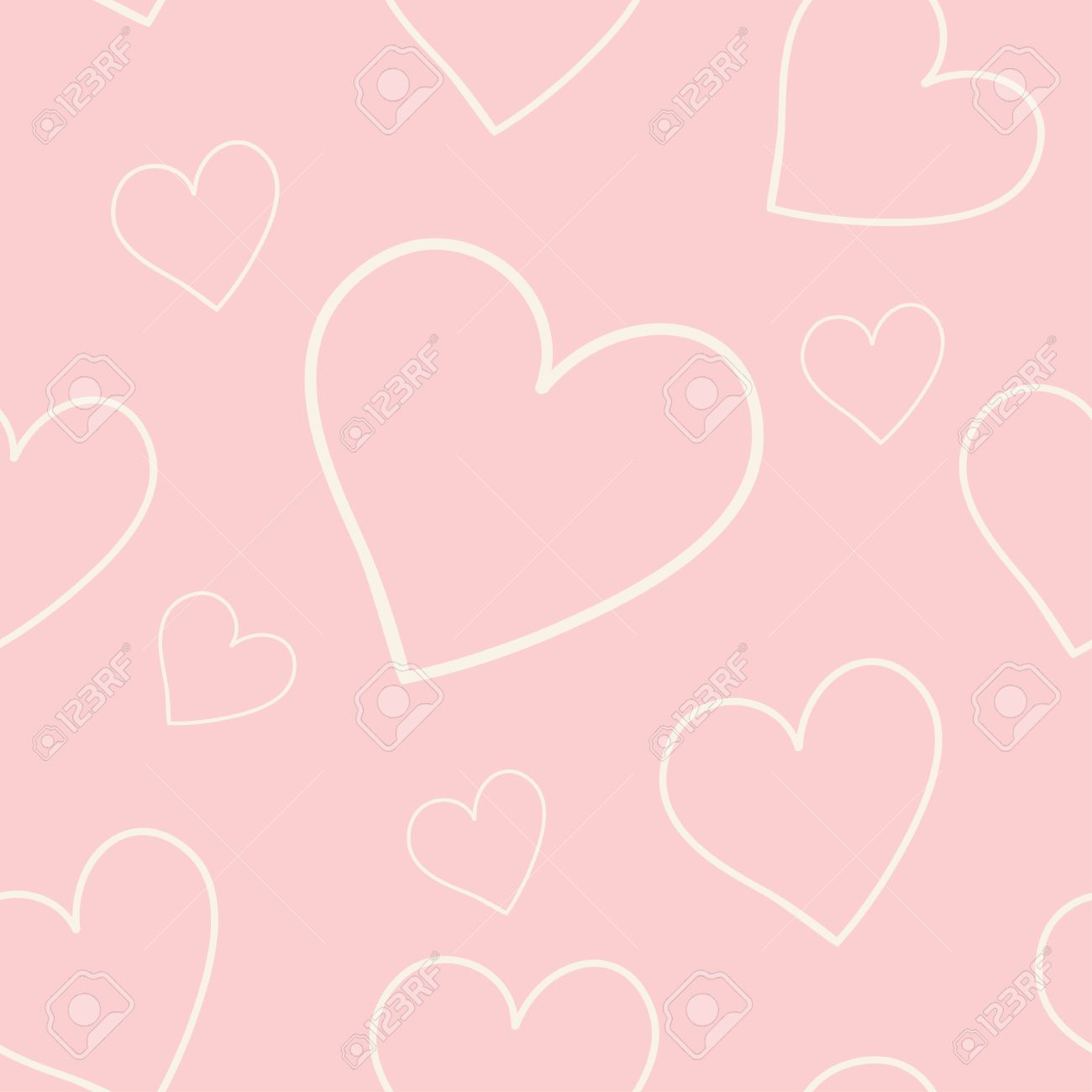 Lovely Pink Background With Hearts Royalty Free Cliparts Vectors