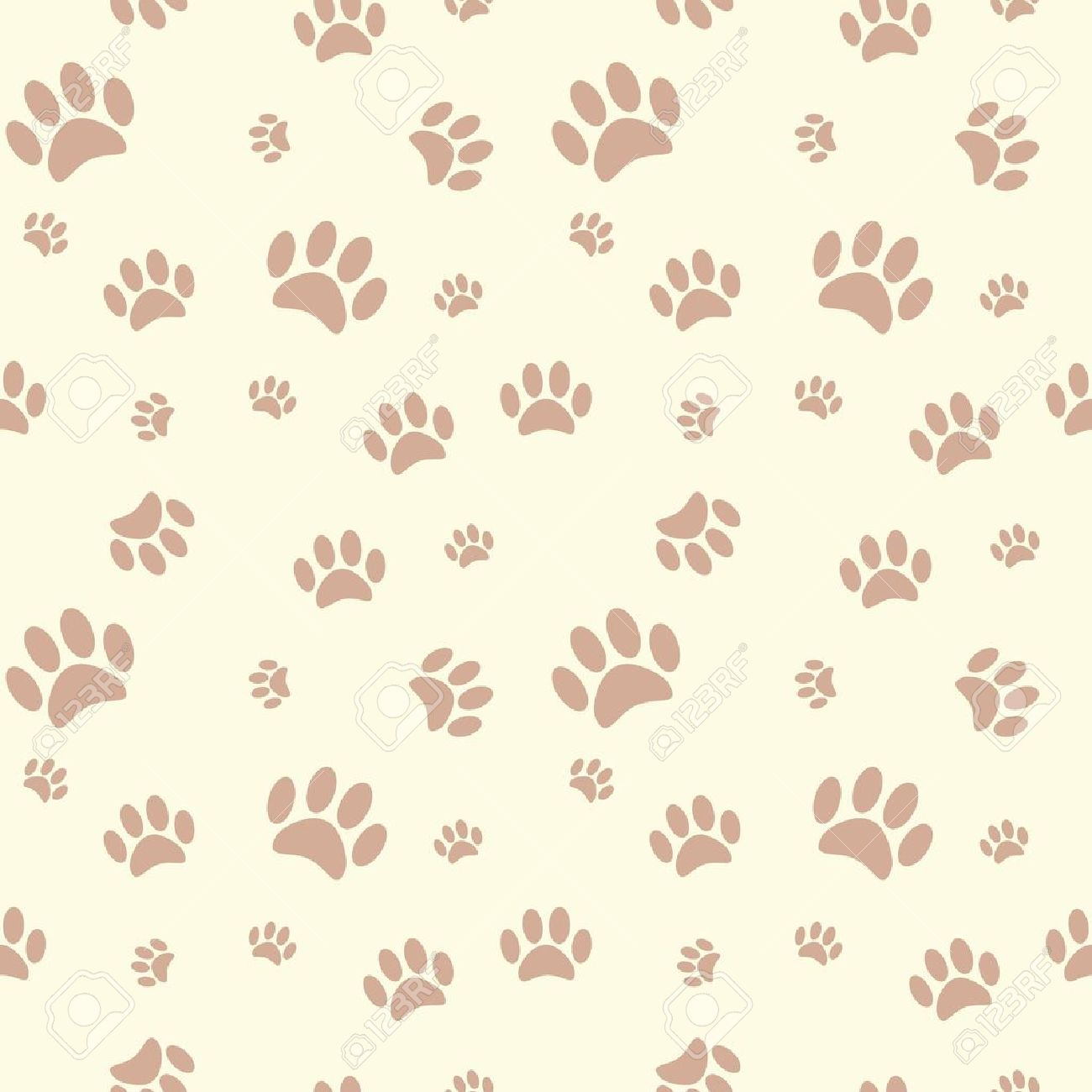 94fe196ff0e5 Background With Dog Paw Print And Bone Royalty Free Cliparts ...