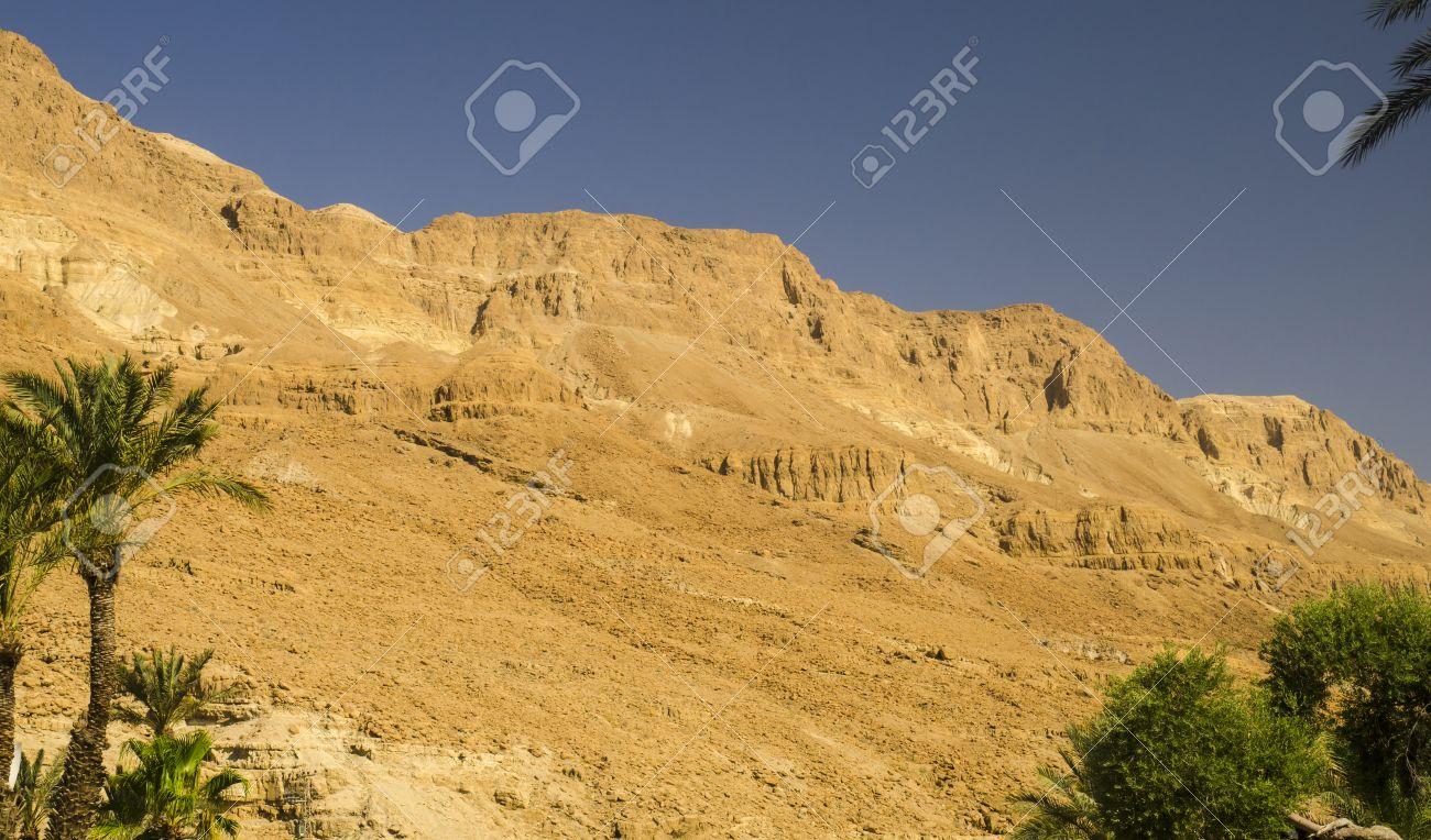 Orange Mountains And Hills In Judean Desert Israel Landmarks Stock