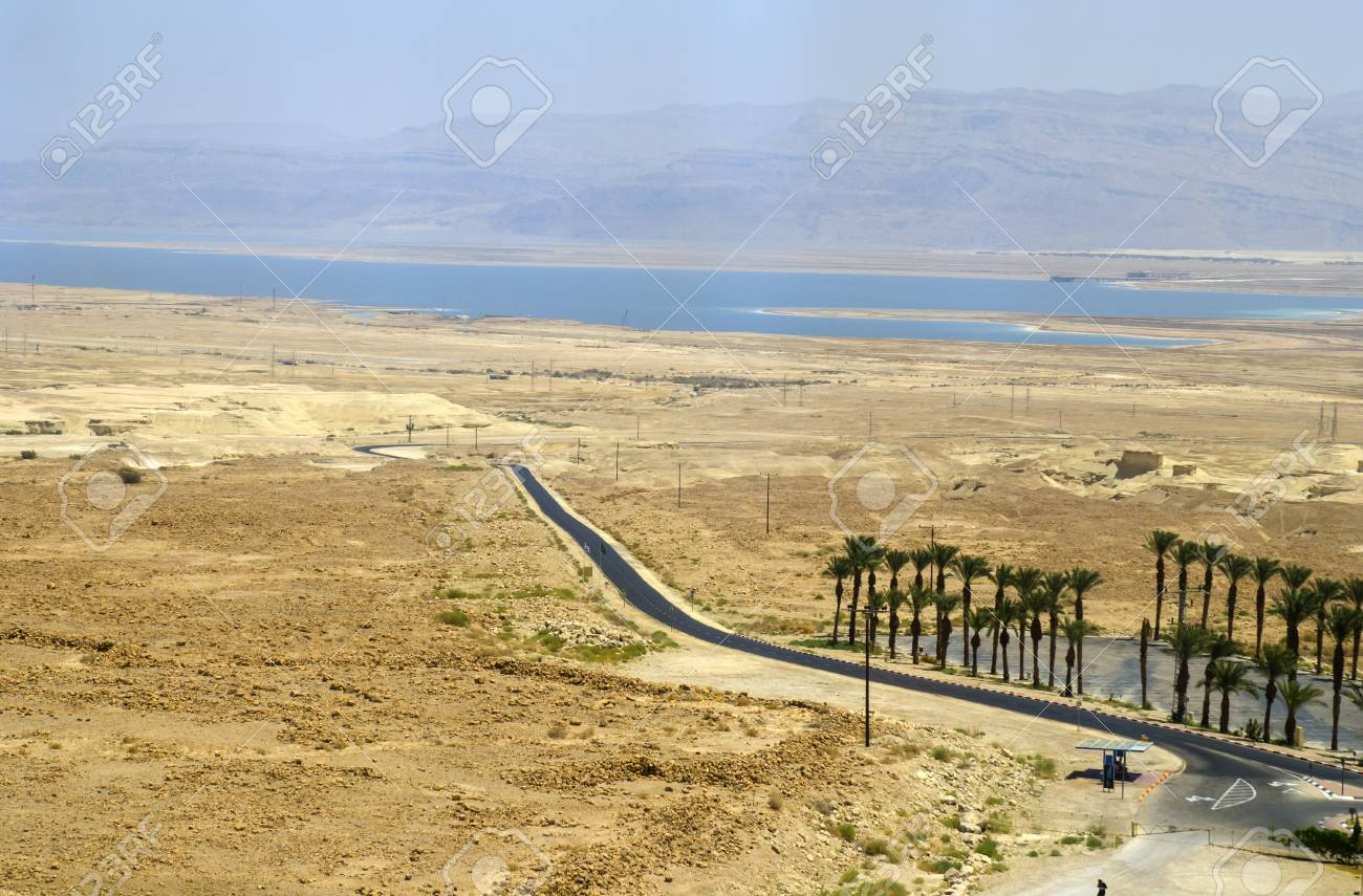 砂漠と美しい景色壁紙イスラエルの死海 の写真素材 画像素材 Image