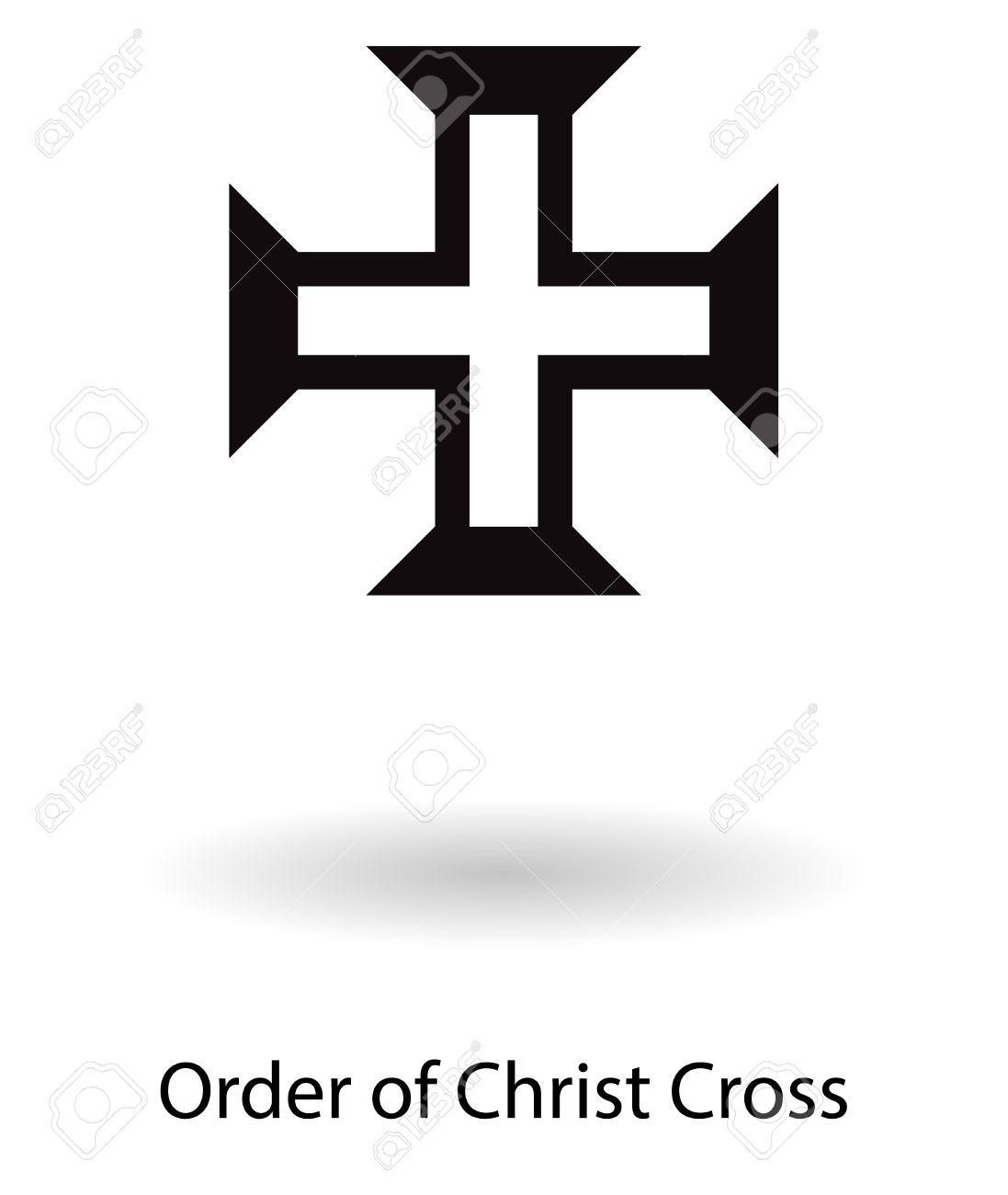 Order of christ cross symbol vector silhouette isolated over order of christ cross symbol vector silhouette isolated over white background stock vector 46720530 biocorpaavc