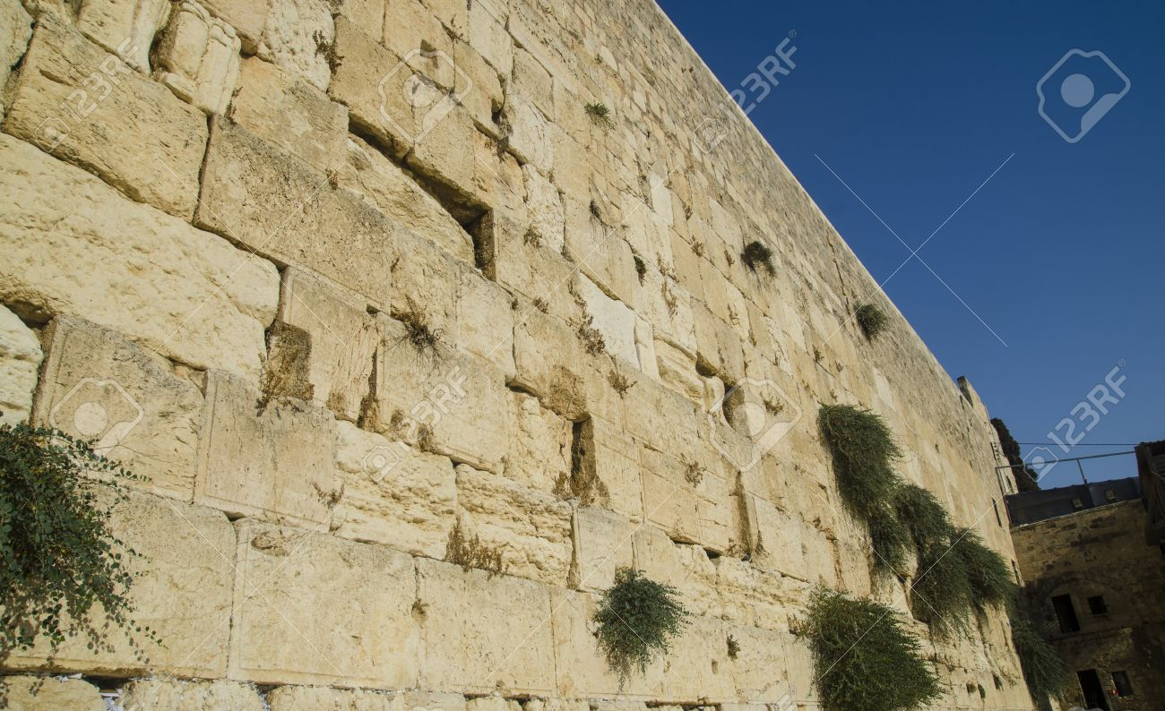 The Weeping Wall in Jerusalem. What are the stones crying about