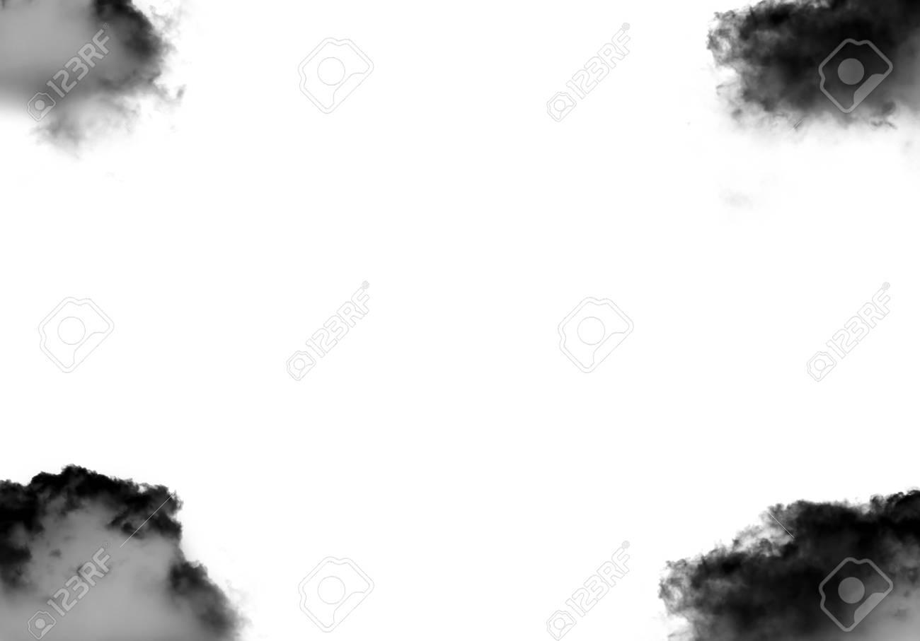 Schwarze Wolken Gestalten Die Vorlage, Die über Schwarzem ...
