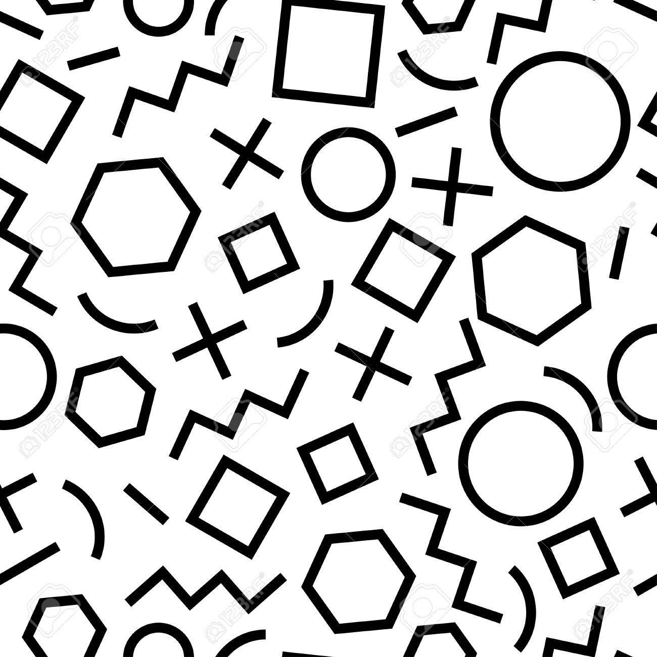 80s Pattern Simple Design Inspiration