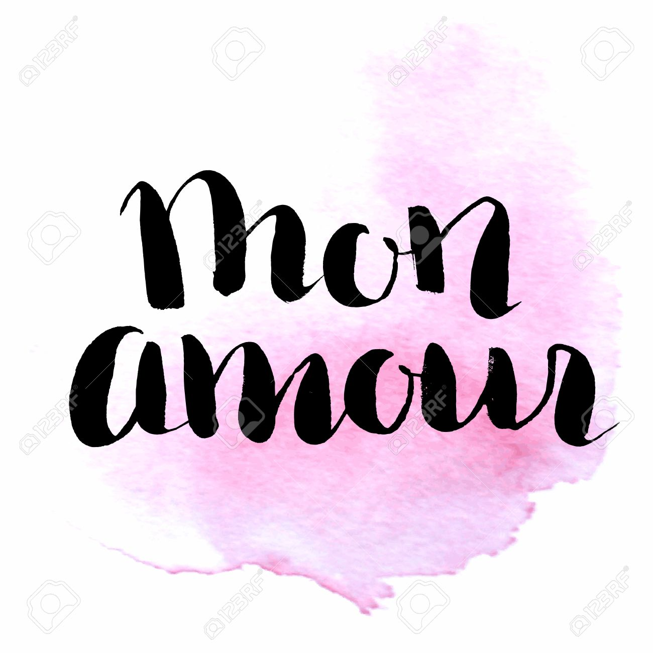 Mon Amour Hand Lettering . Quote My Love In French . Modern ...