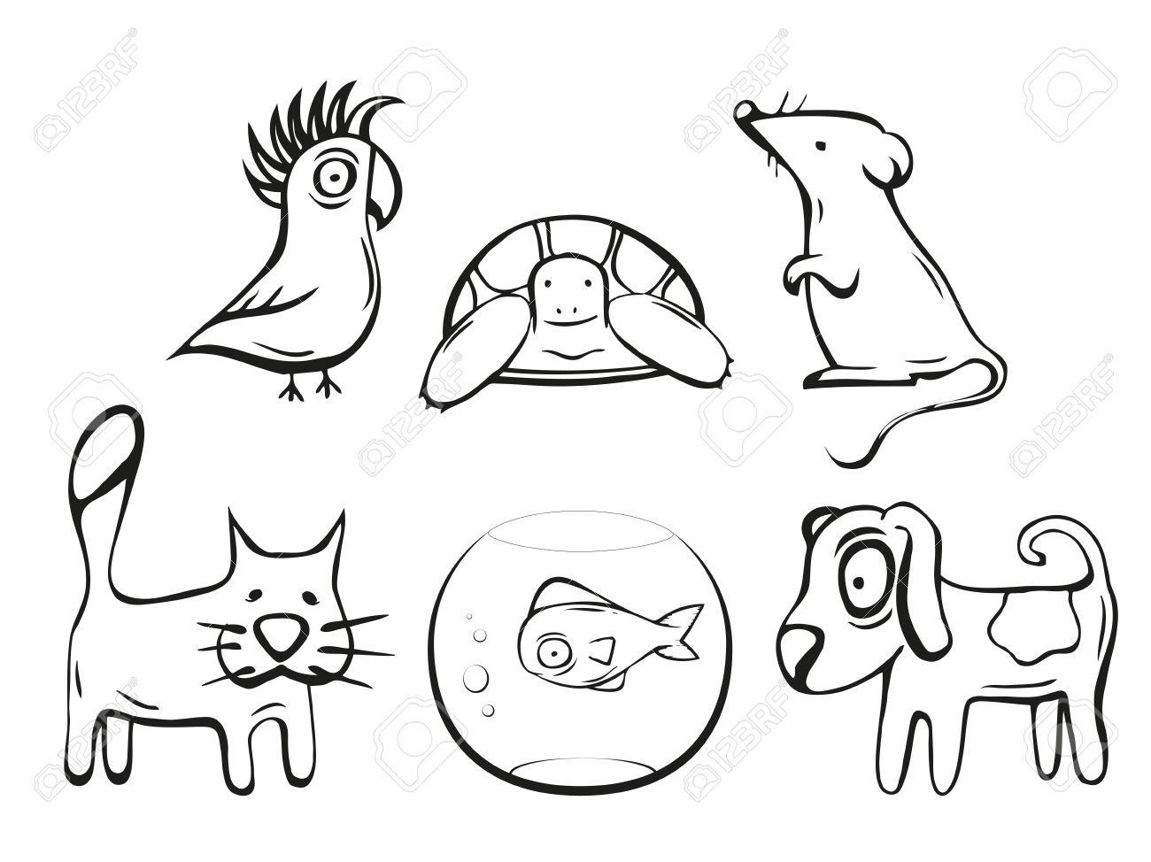 Magnífico Perros Y Gatos Para Colorear Colección - Dibujos de ...
