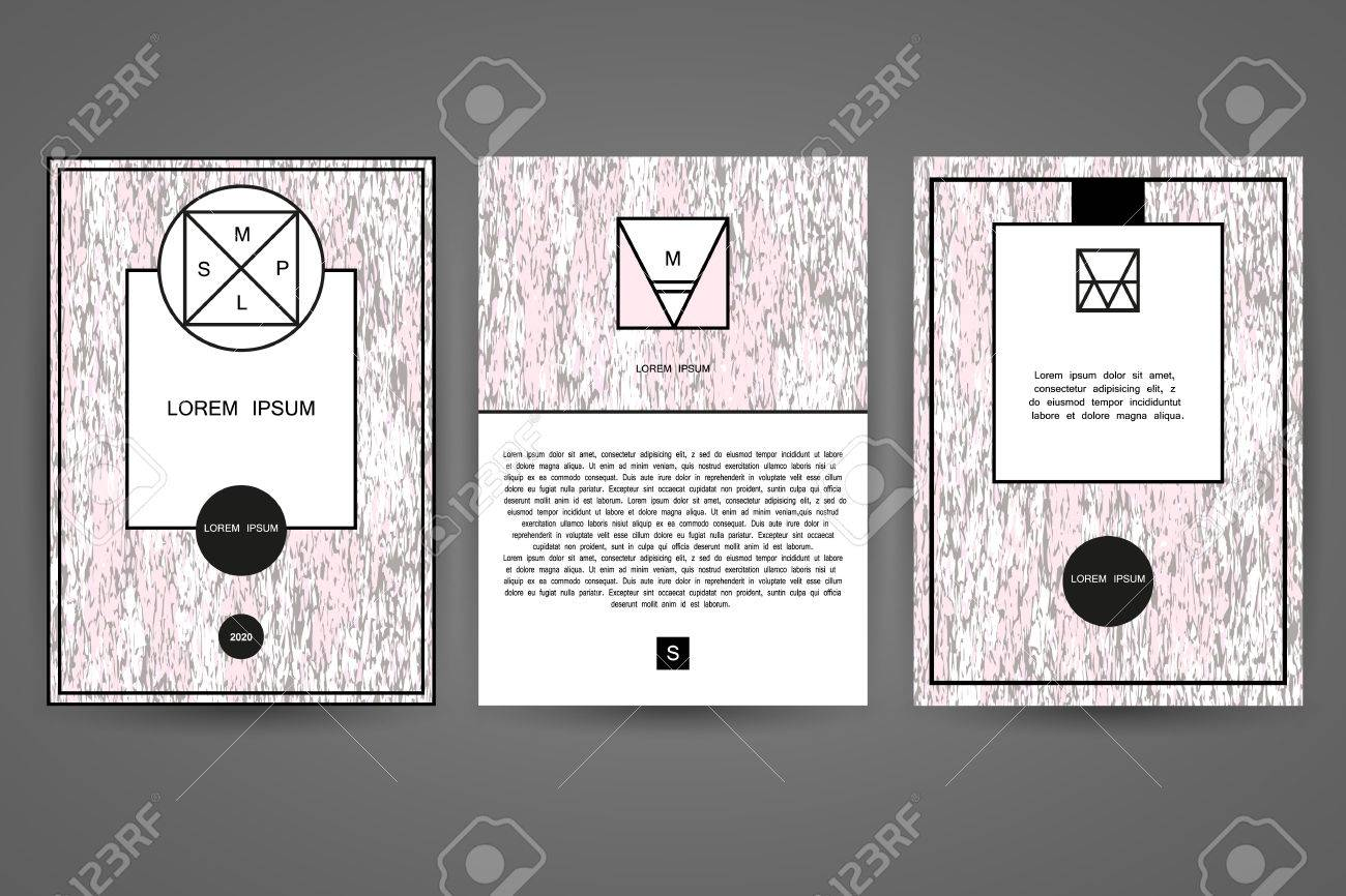 Ensemble De Modles Conception Graphique Pour Cartes Visite
