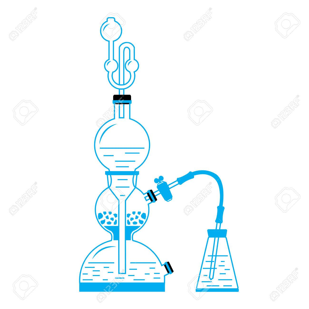 Vector illustration of kipps apparatus old fashioned chemistry vector illustration of kipps apparatus old fashioned chemistry glassware used for gases generation through chemical ccuart Images
