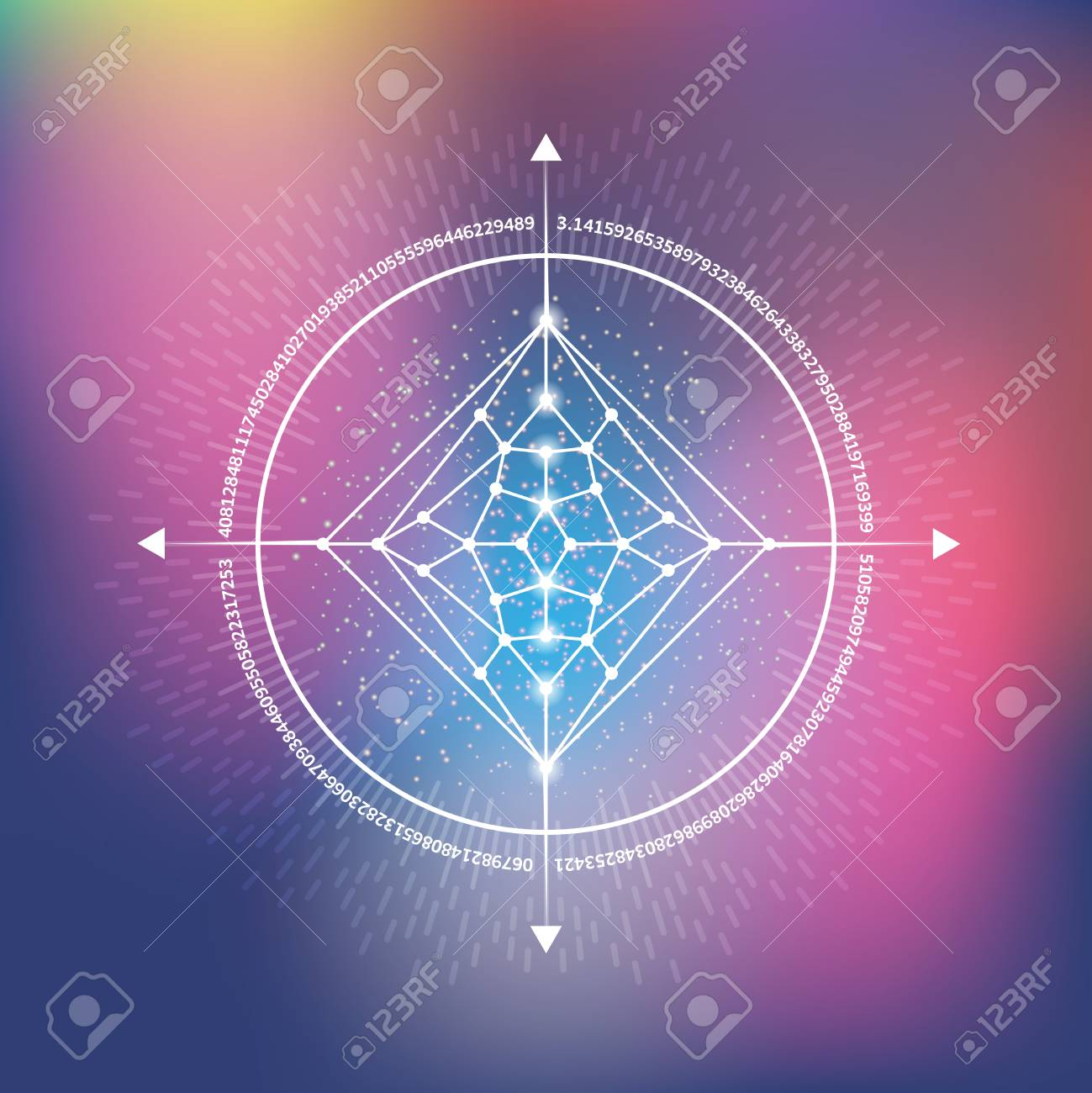 Vector illustration of hipster sacred geometry  Mathematical