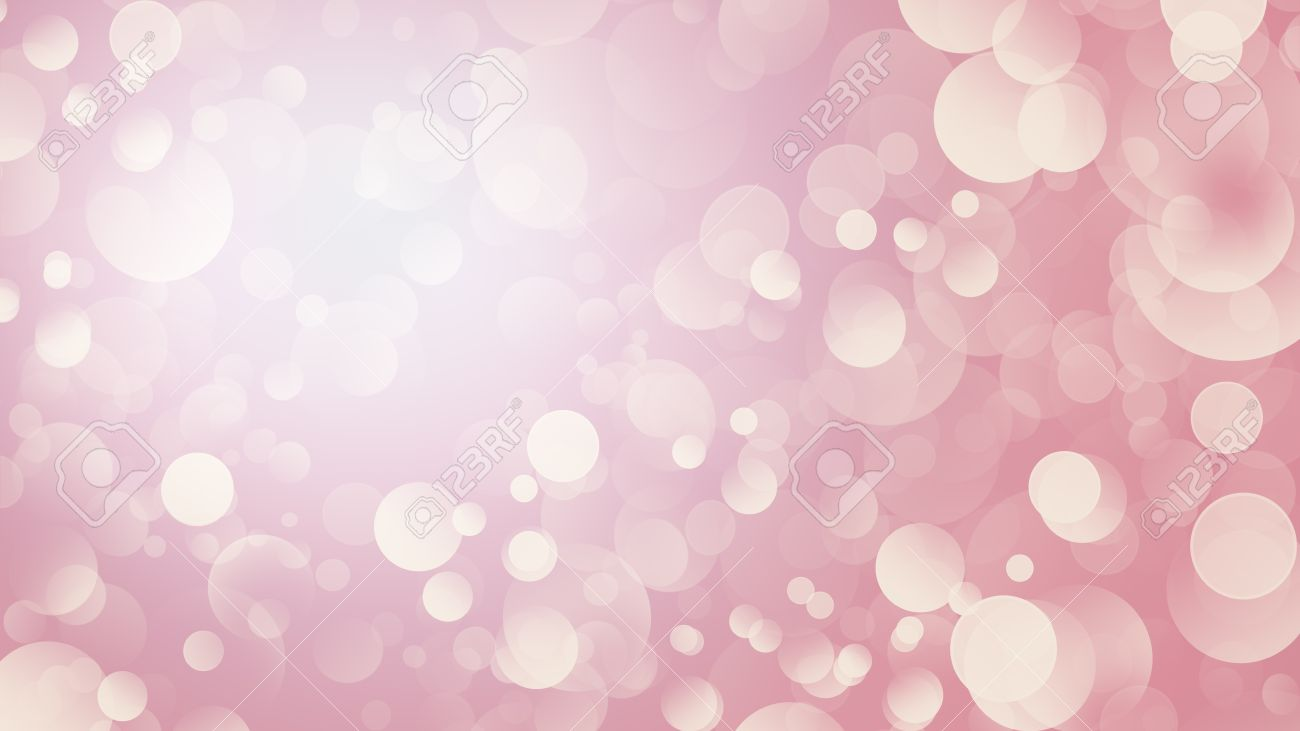 Blurred Dusty Pink Festive Background With Bokeh Lights. Abstract Wallpaper.  Stock Photo   63406035