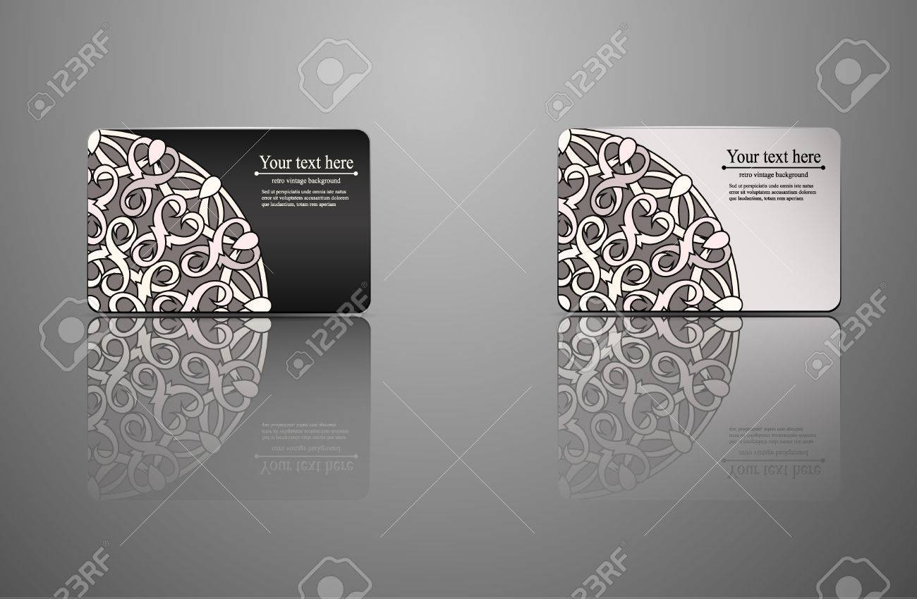 Template Gift Card, Credit Card, Business Card, An Invitation ...
