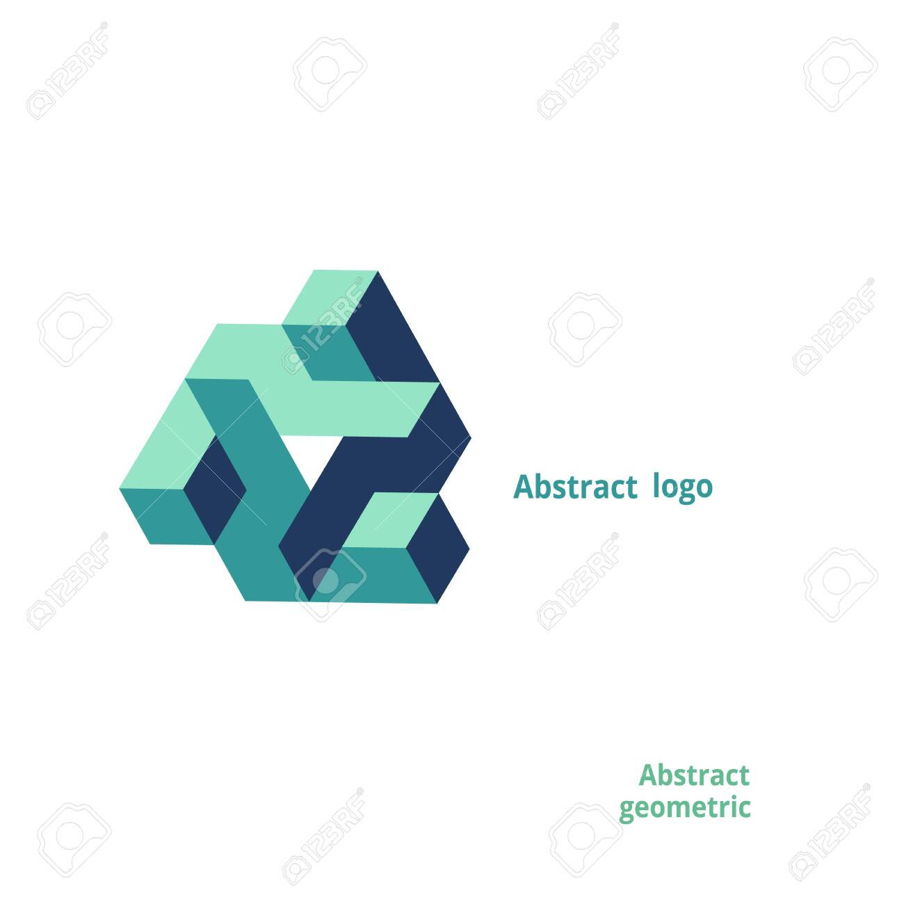 abstract geometric logo on a white background. Vector illustration - 149871495