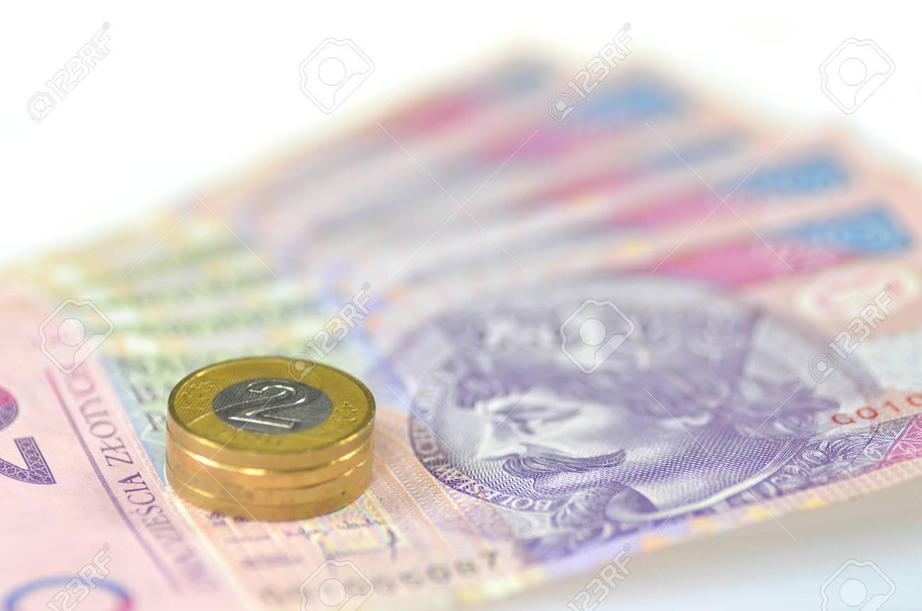 Polnisches Geld Banknoten Und Münzen Lizenzfreie Fotos Bilder Und