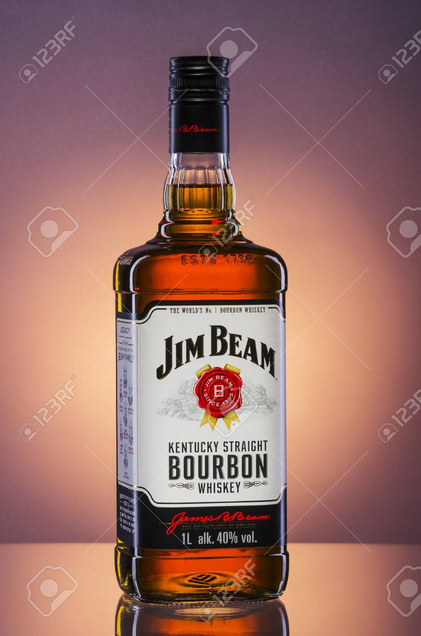 jim beam bourbon whiskey on gradient background stock photo picture