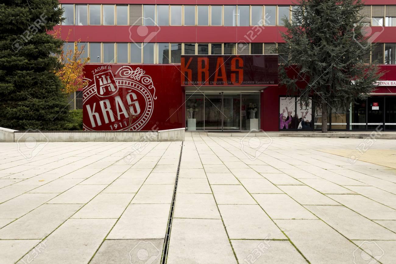 Zagreb Croatia November 15 2014 Kras Chocolate Factory