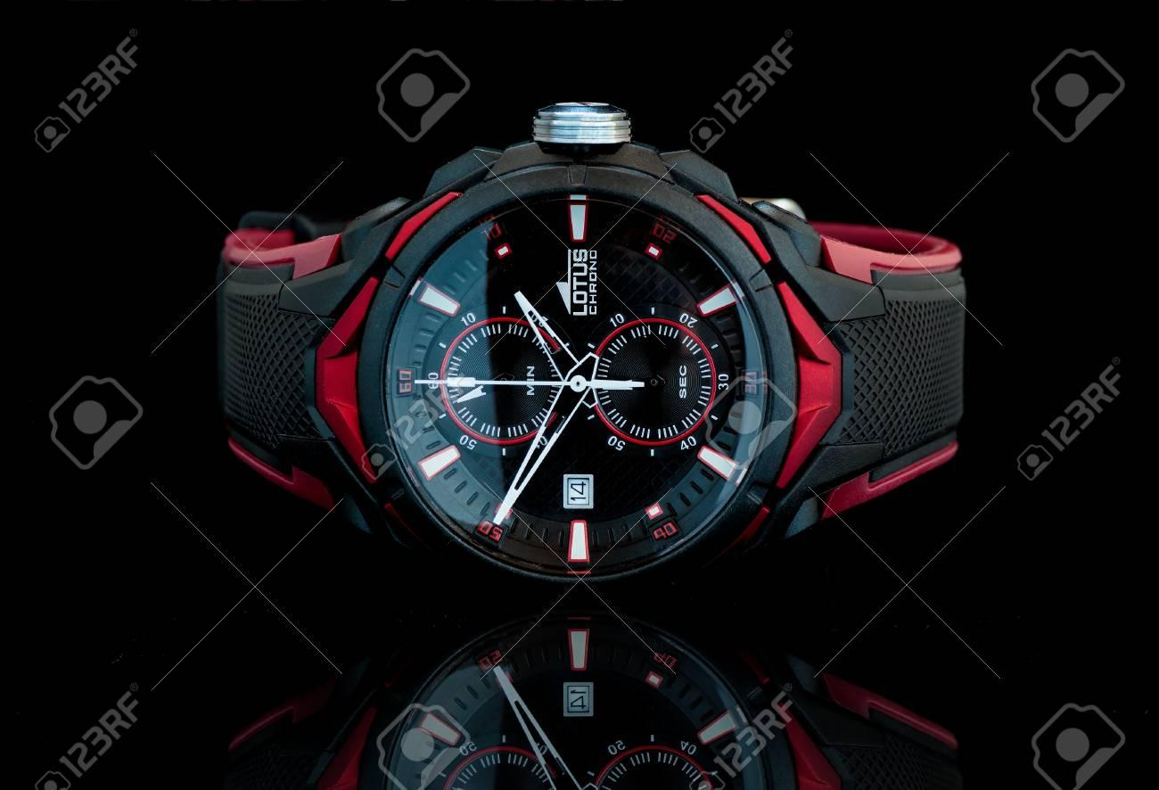 size 40 af307 e6513 ザグレブ, クロアチア - 2016 年 8 月 14 日: ロータス クロノ スポーツ腕時計。ロータスはフェスティナ グループ、時計の 5  つのブランドを構成するグループのブランド: フェスティナ、ロータス、ジャガー、Candino、カリプソ