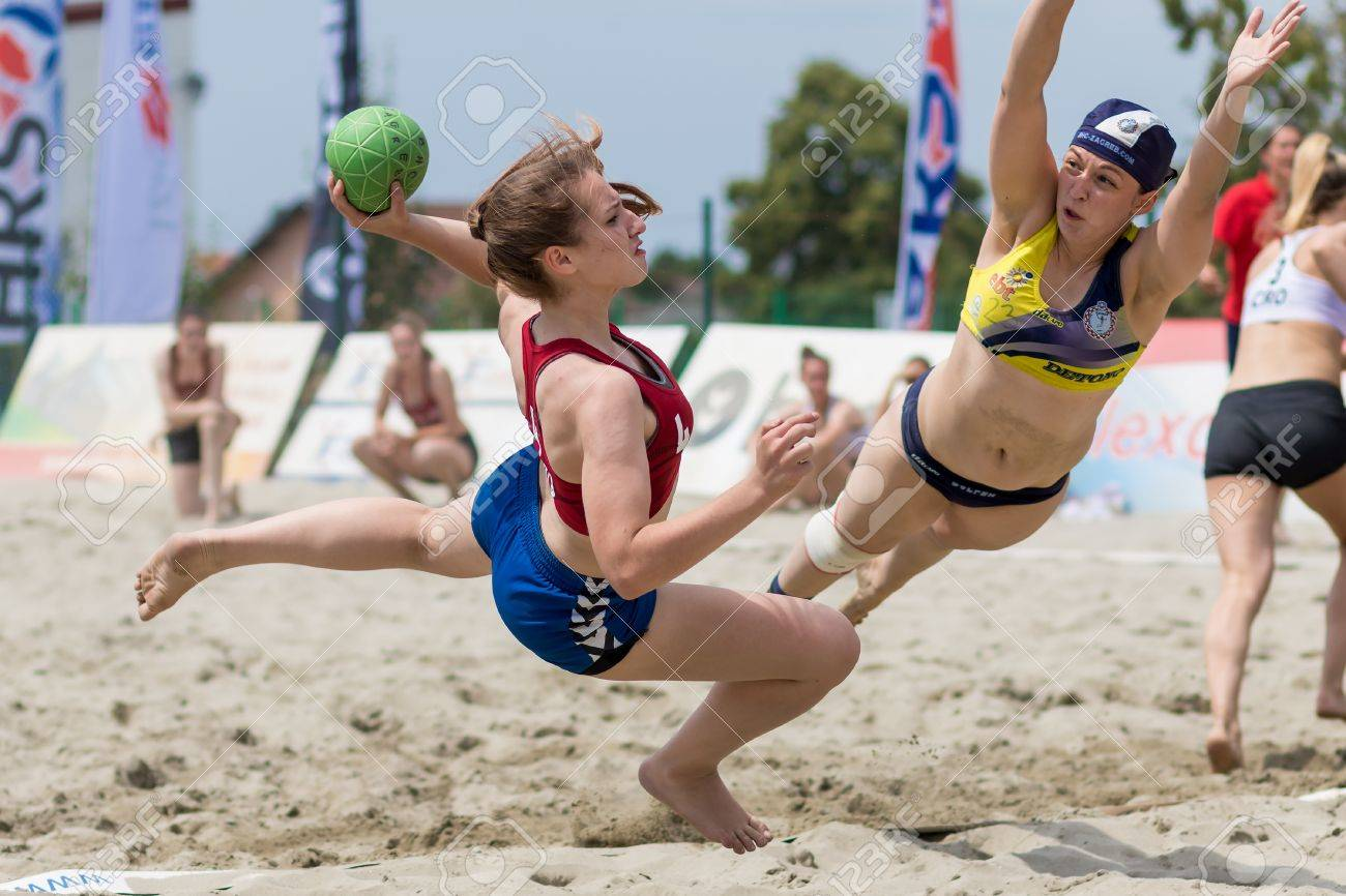 zagreb croatia june 10 2017 croatian beach handball