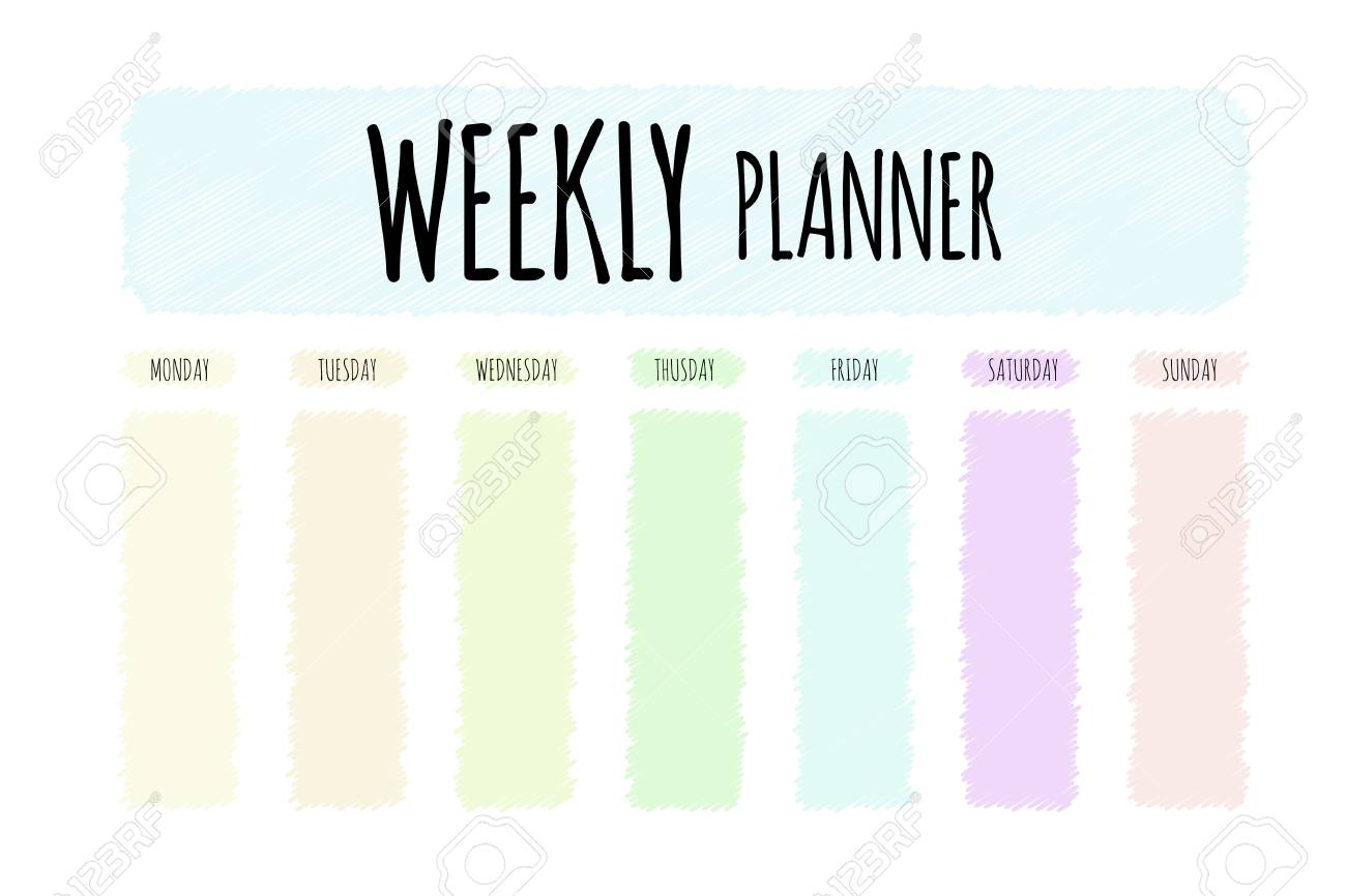graphic regarding Weekly Planner Page called Lovable vector planner. Lovable web page for notes. Notebooks, diary, university..