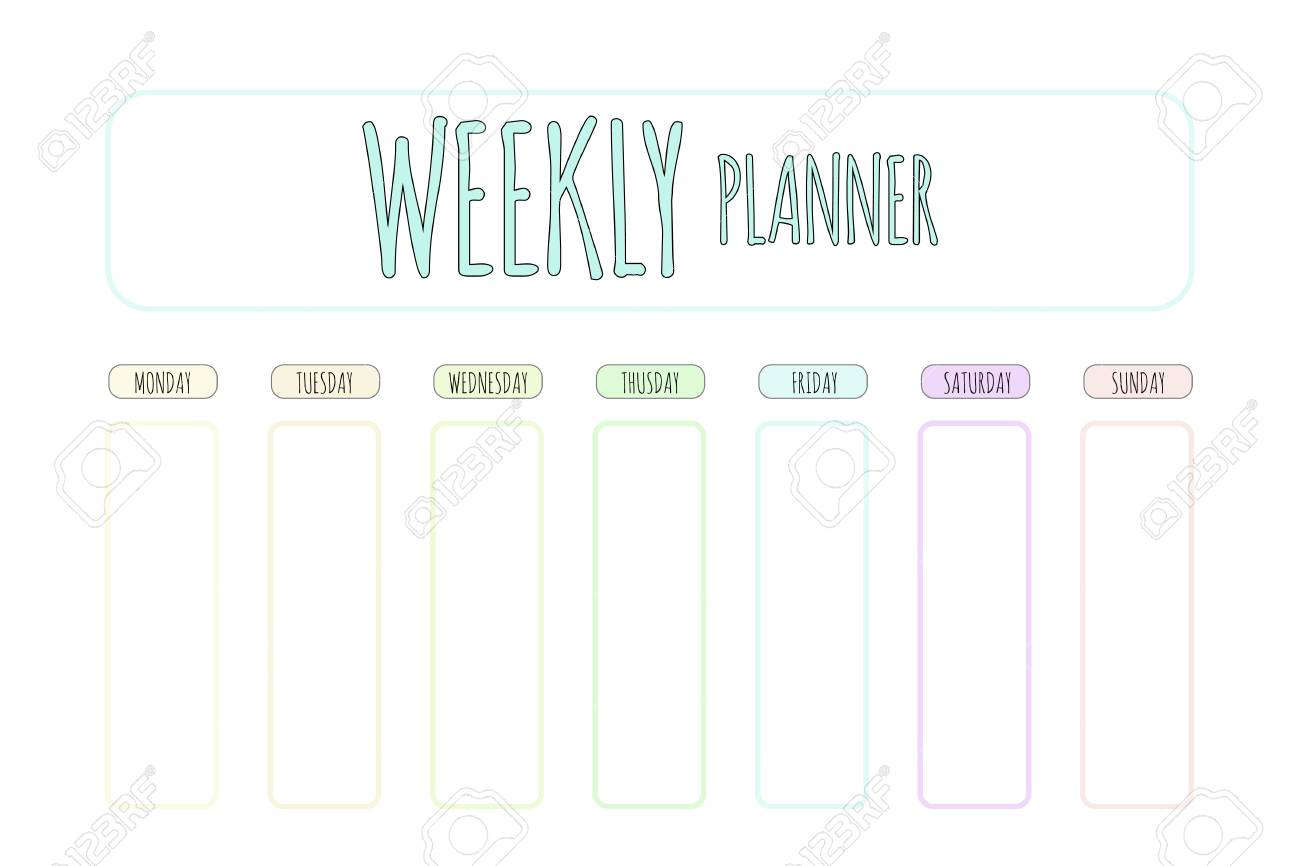 photograph relating to Weekly Planner Page named Lovable vector planner. Lovely website page for notes. Notebooks, diary, higher education..