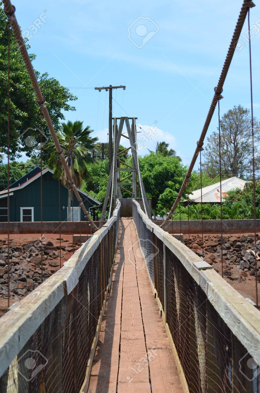 Swinging Bridge Of Hanapepe Kauai I Hawai I